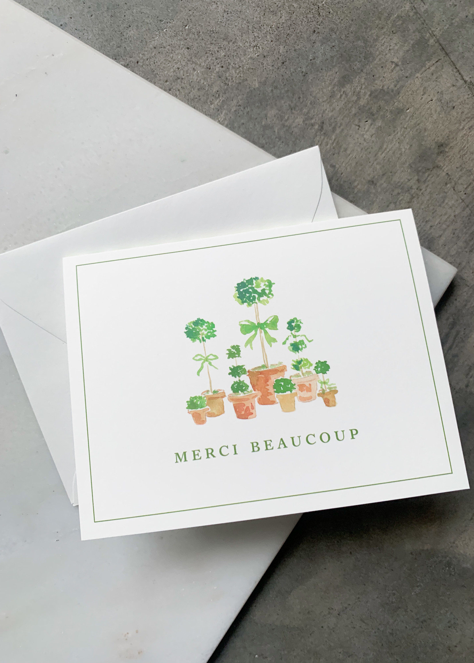 Elitaire Boutique French Topiary Thank You Card