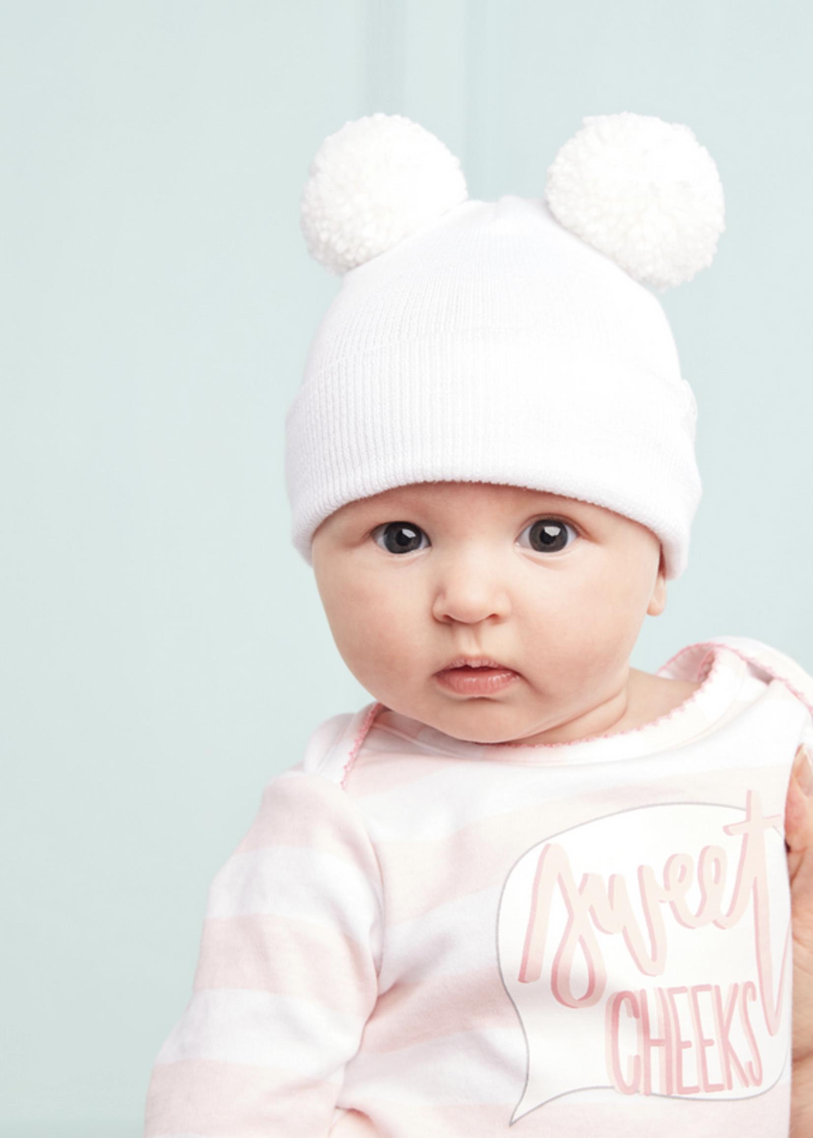 Elitaire Petite Pom-Pom Newborn Cap