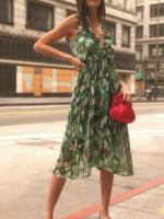Elitaire Boutique Addison Chiffon Floral Dress