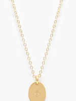 Elitaire Boutique Dainty Oval Necklace