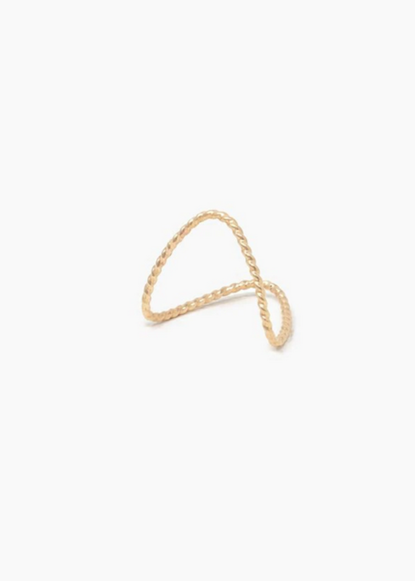 Elitaire Boutique Twisted Double V Ring