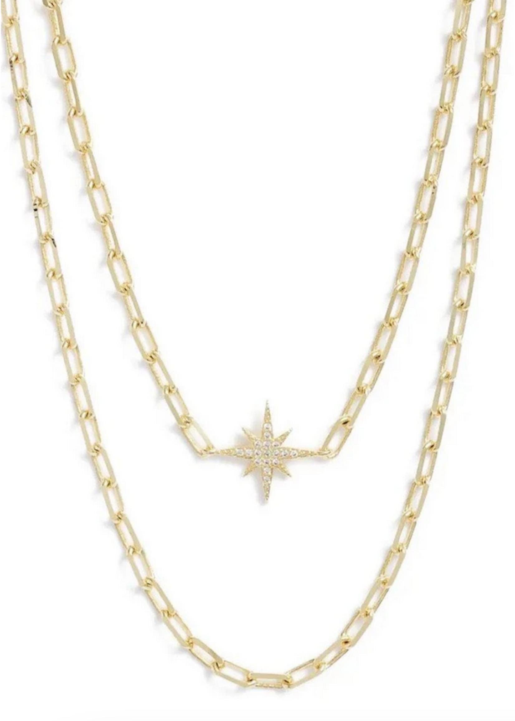 Elitaire Boutique Starburst Layered Necklace