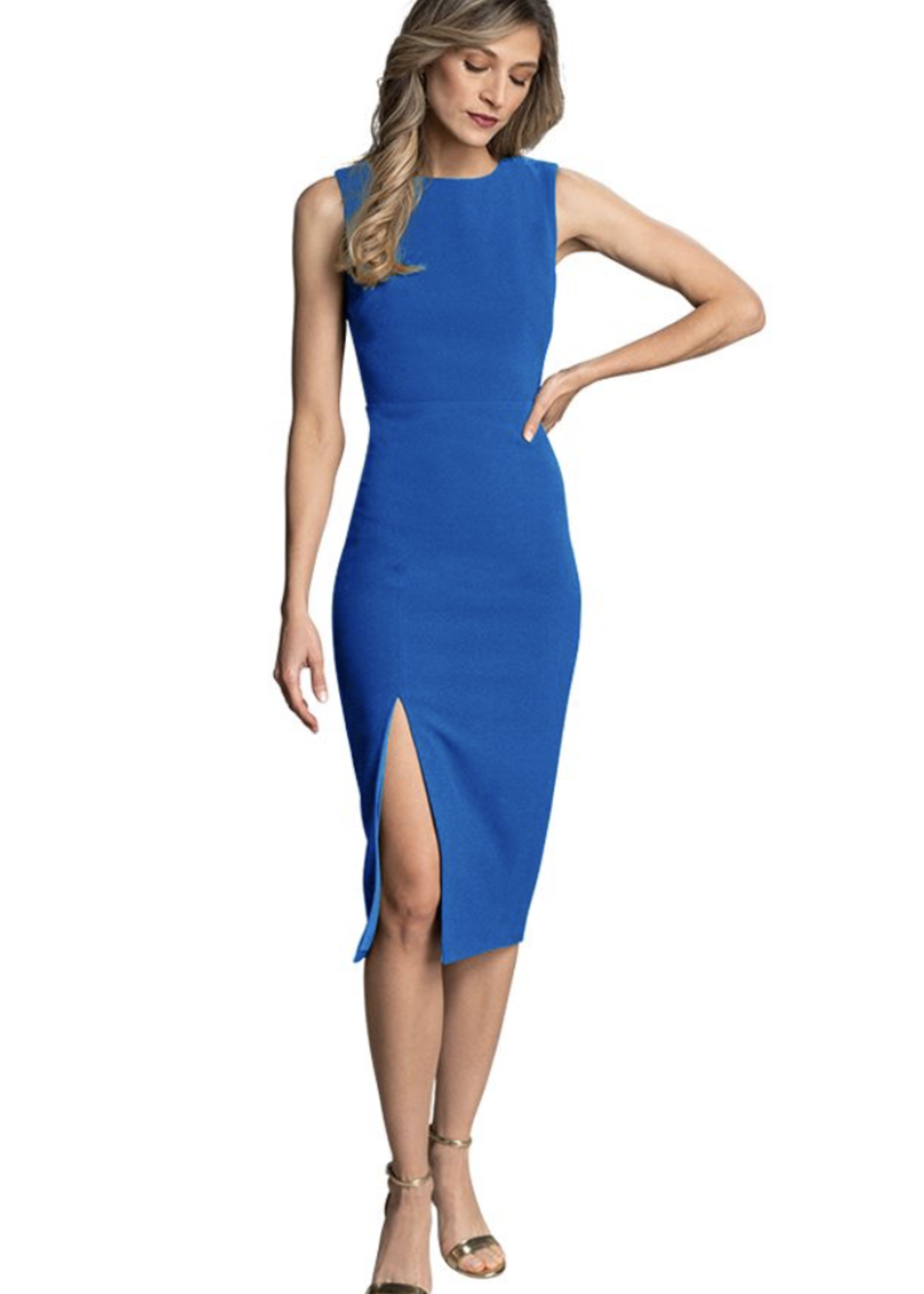Elitaire Boutique The Mae Dress in Electric Blue
