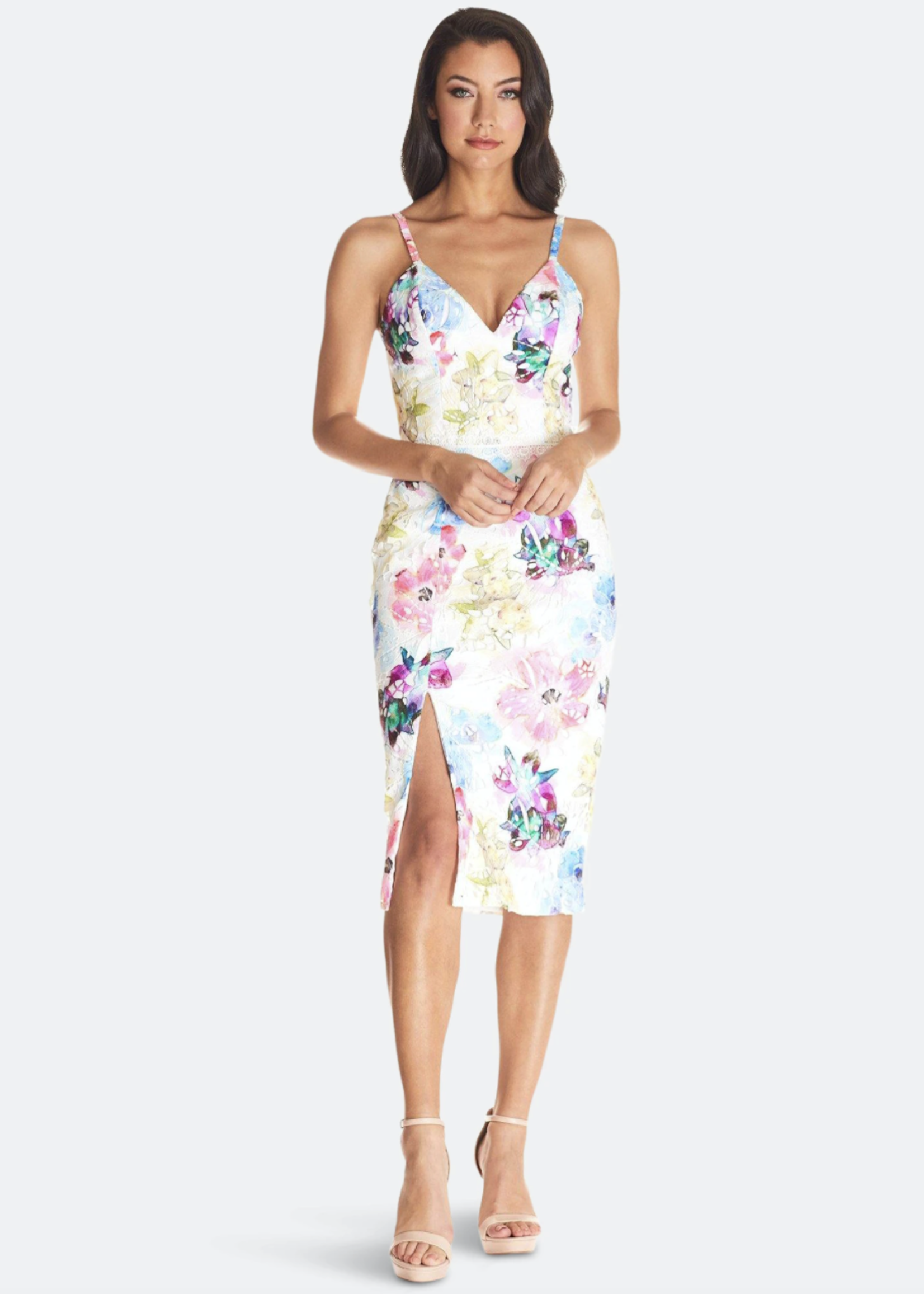 Elitaire Boutique The Joelle Dress in Raspberry Multi