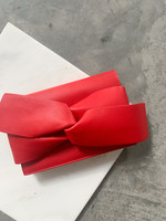 Elitaire Boutique Red Bow Leather Clutch