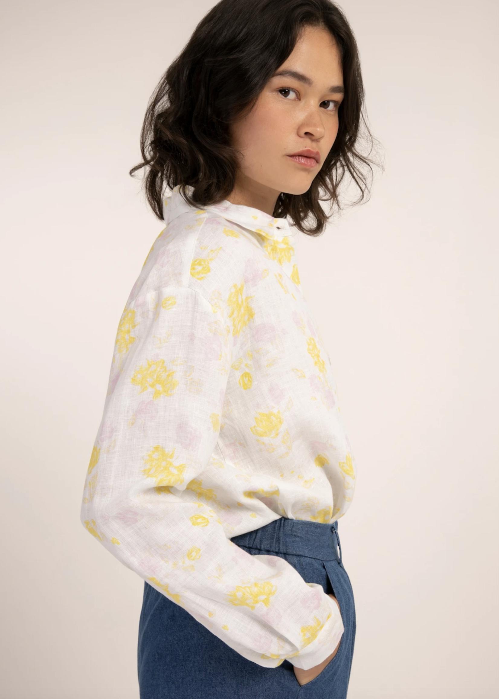 Elitaire Boutique Celoise White Floral Shirt