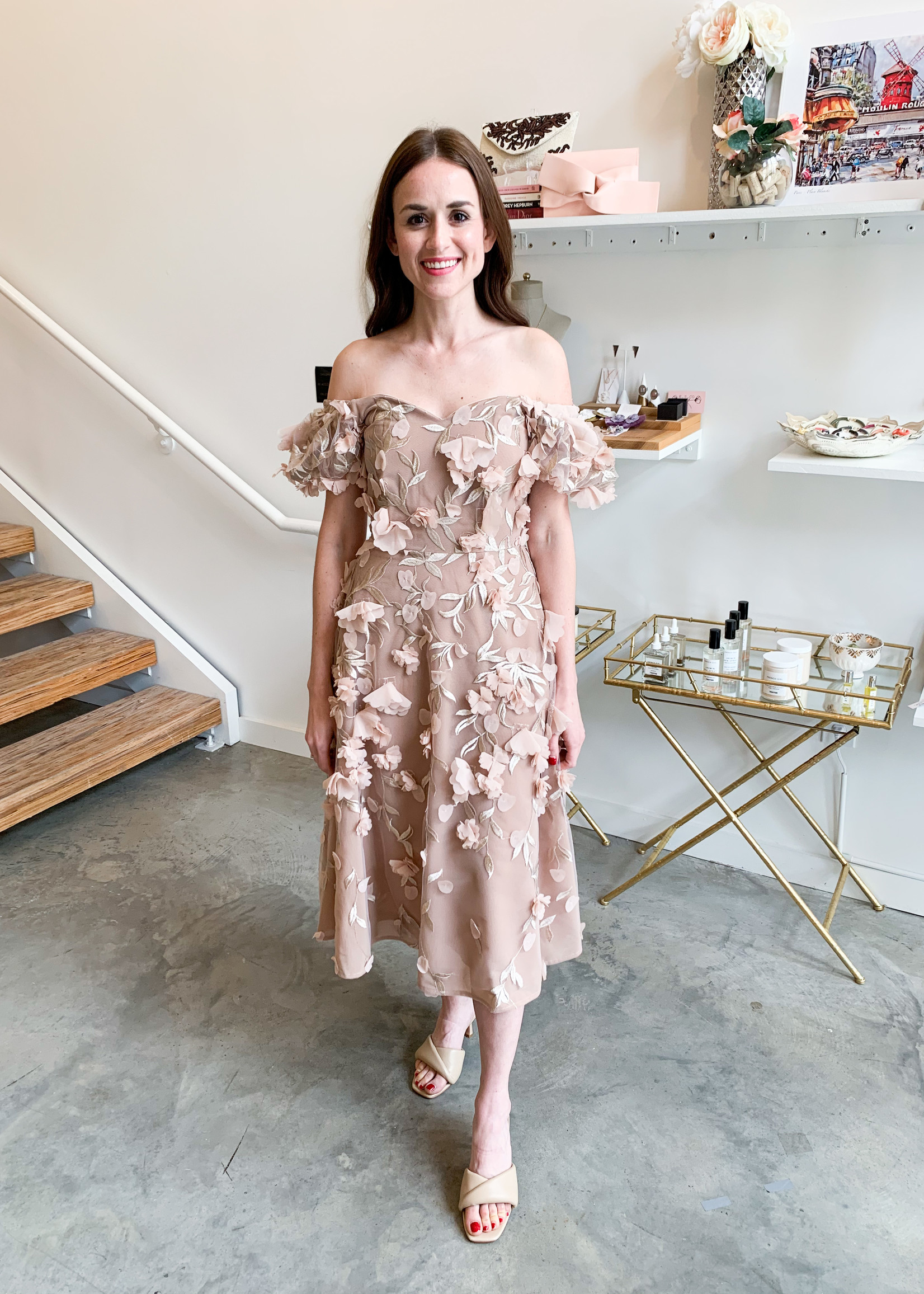Elitaire Boutique The Daphne Dress in Almond
