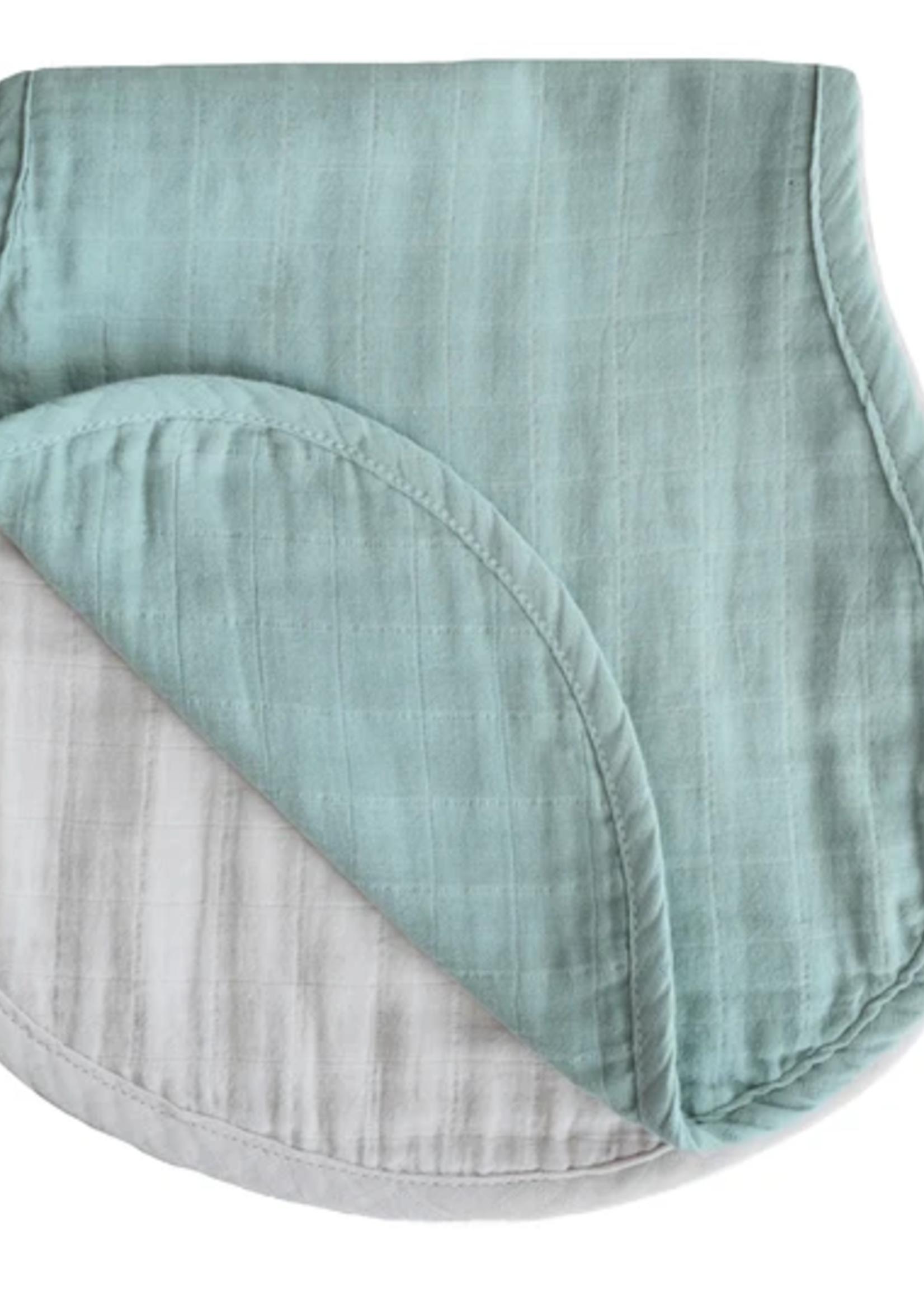 Elitaire Petite Muslin 2-Pack Burp Cloth in Green/Fog