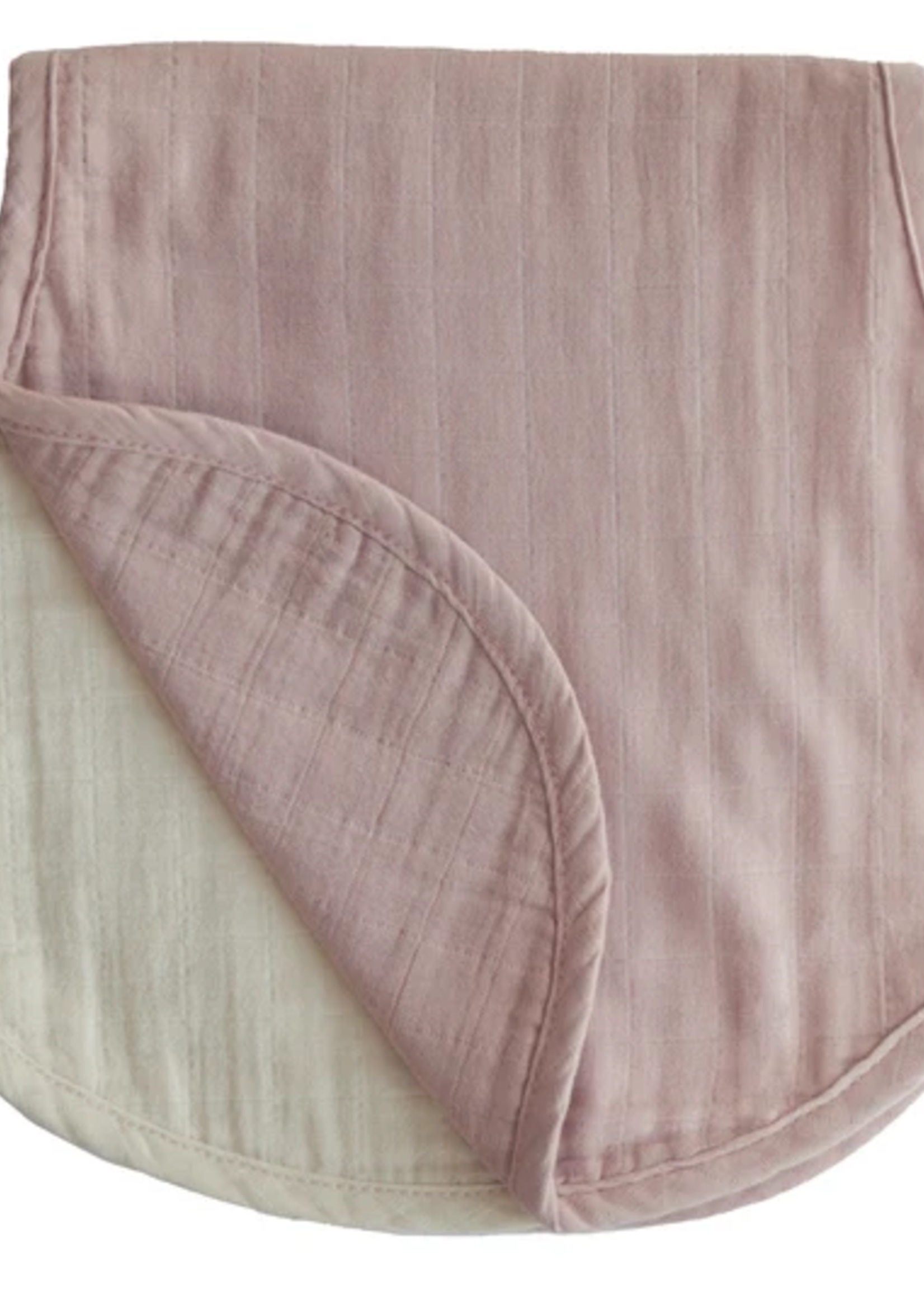Elitaire Petite Muslin 2-Pack Burp Cloth in Blush/Fog