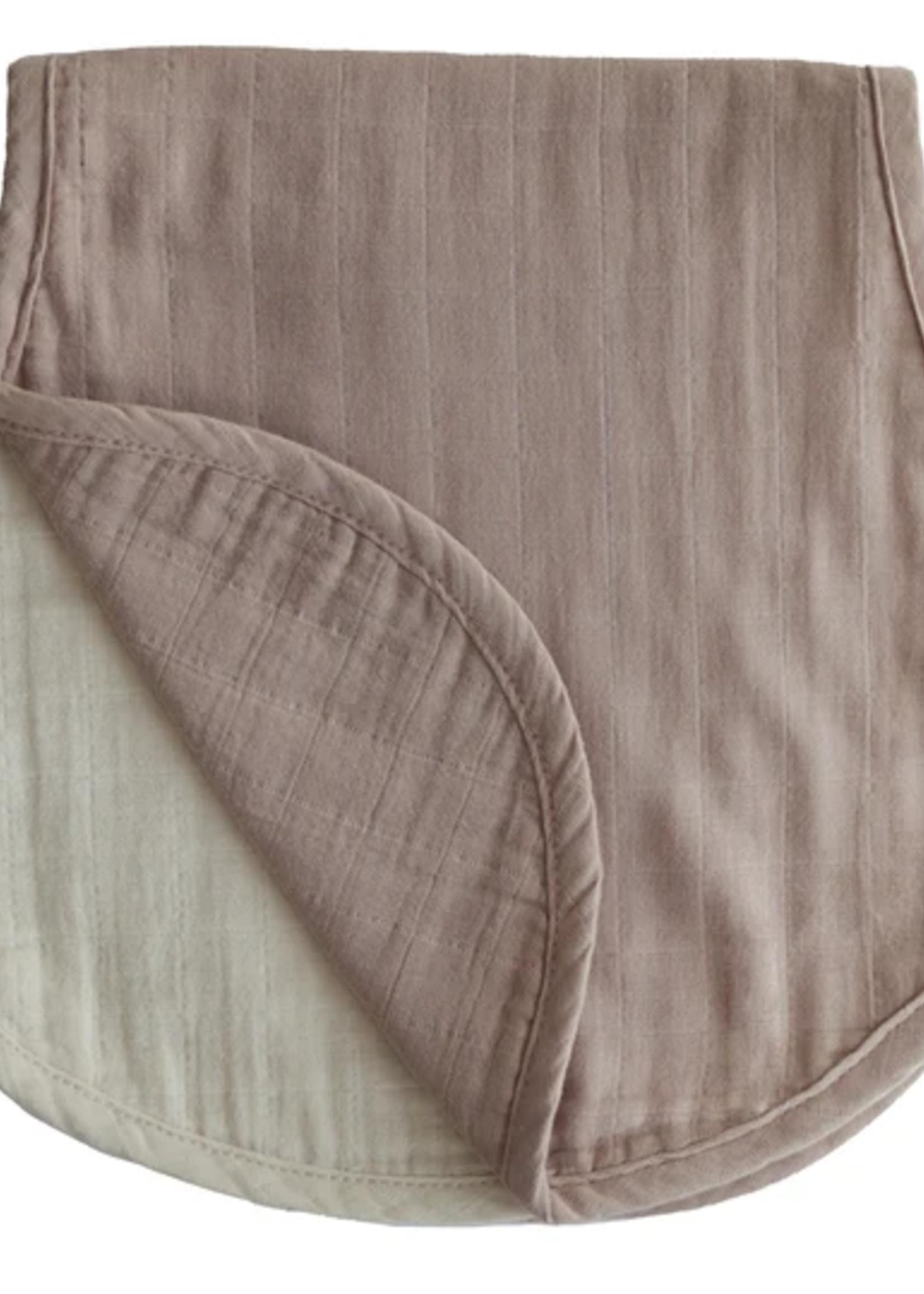 Elitaire Petite Muslin 2-Pack Burp Cloth in Natural/Fog