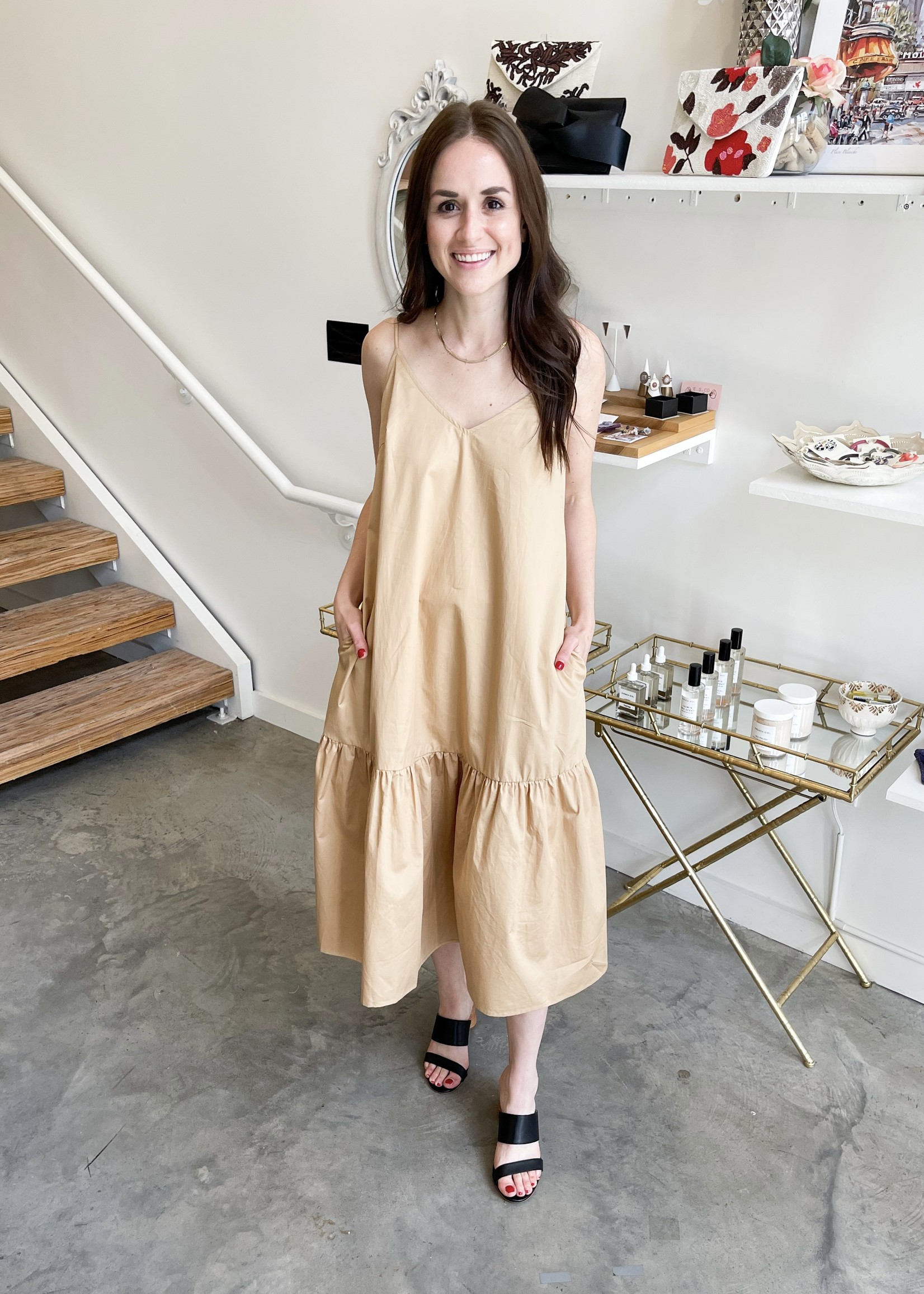 Elitaire Boutique Maysel Camel Dress