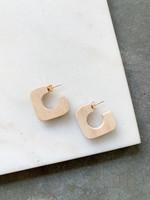 Elitaire Boutique Driftwood Square Mini Hoop
