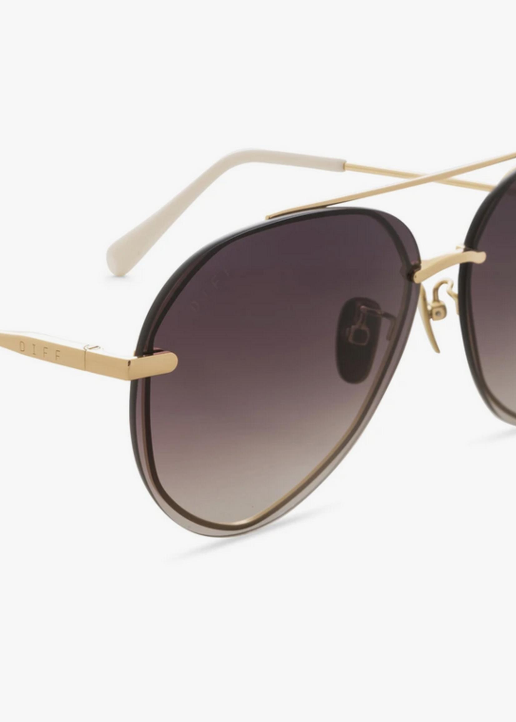 Elitaire Boutique Lenox Gold & Brown Sunglasses