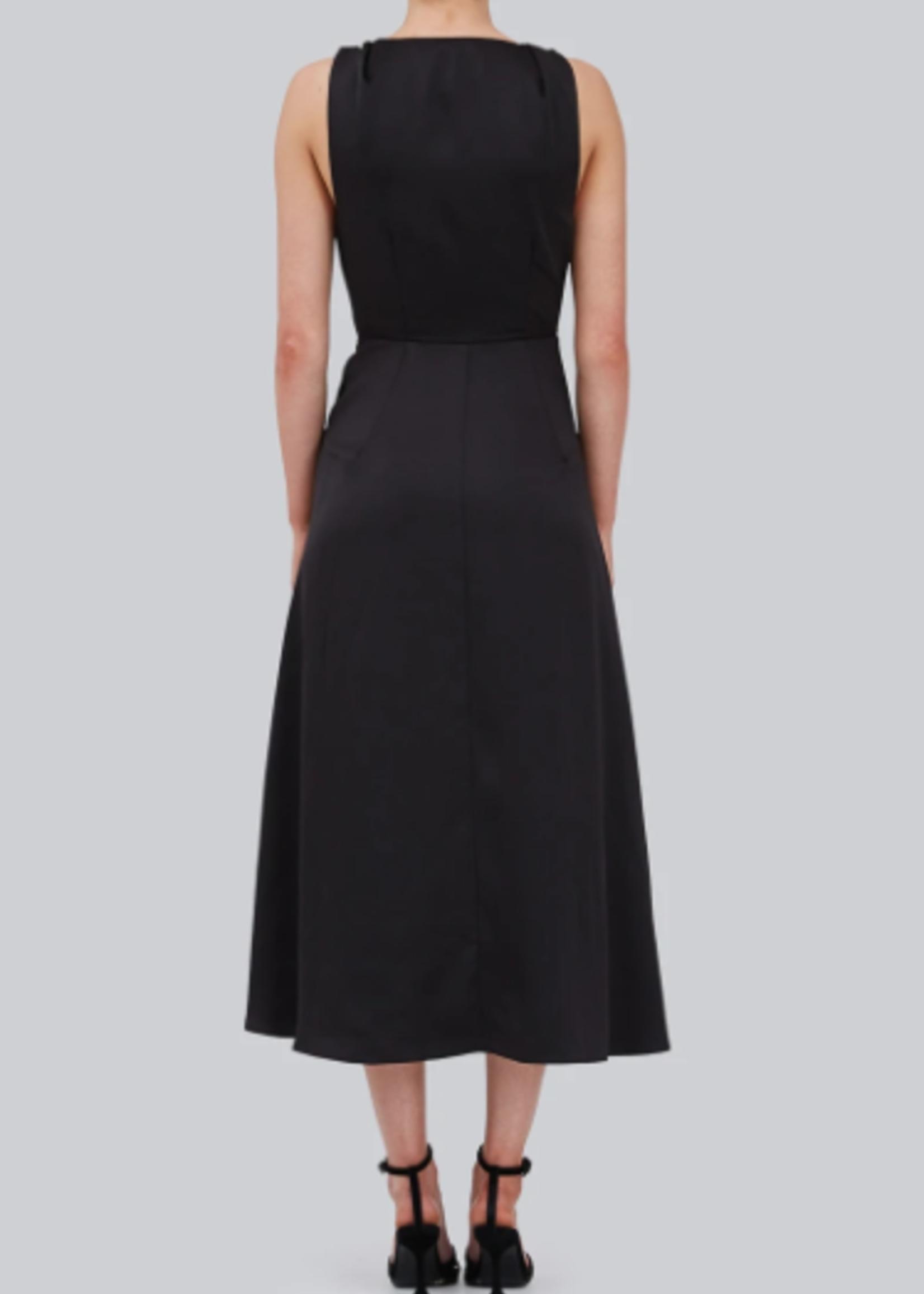Elitaire Boutique Burning Midi Dress Black
