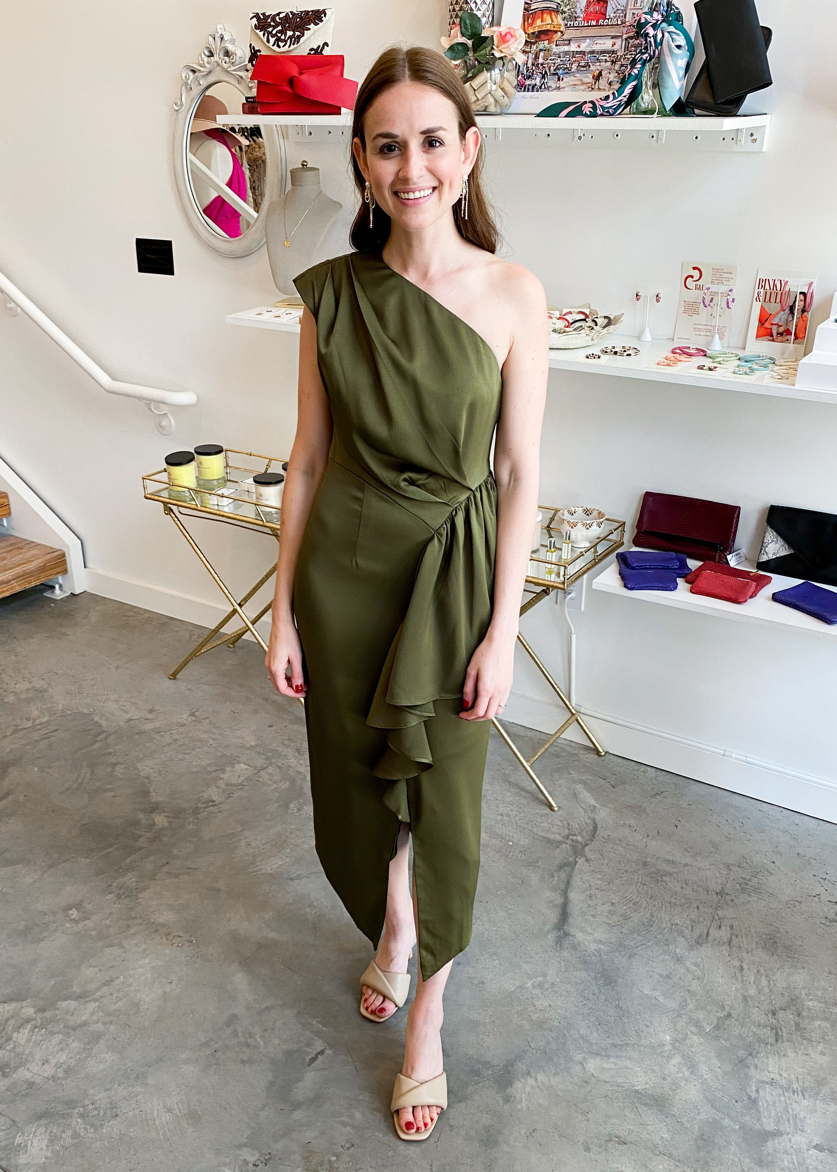 Elitaire Boutique Blakely Olive Dress