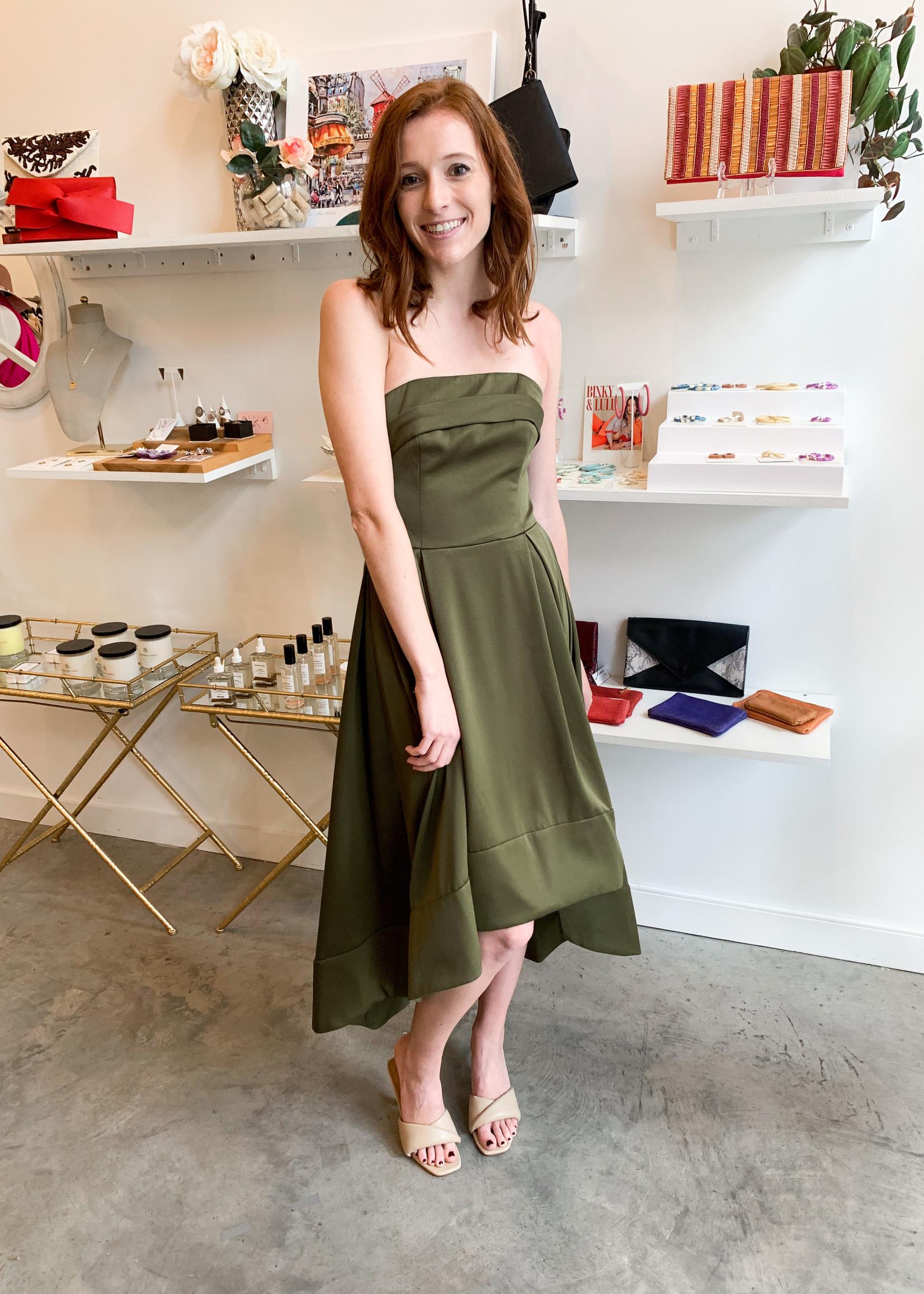 Elitaire Boutique Lucia Olive Dress