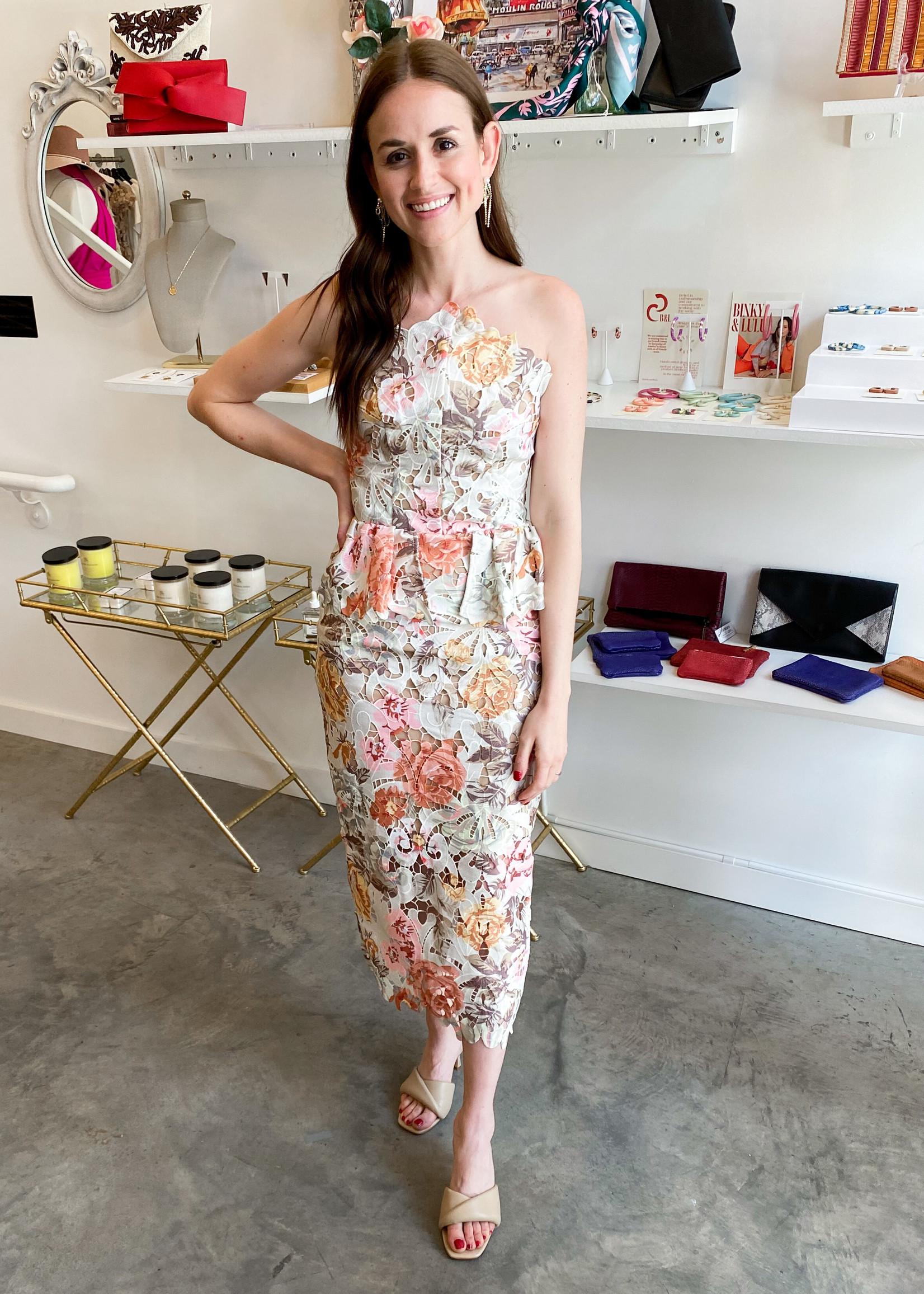 Elitaire Boutique Adelynn Floral Dress