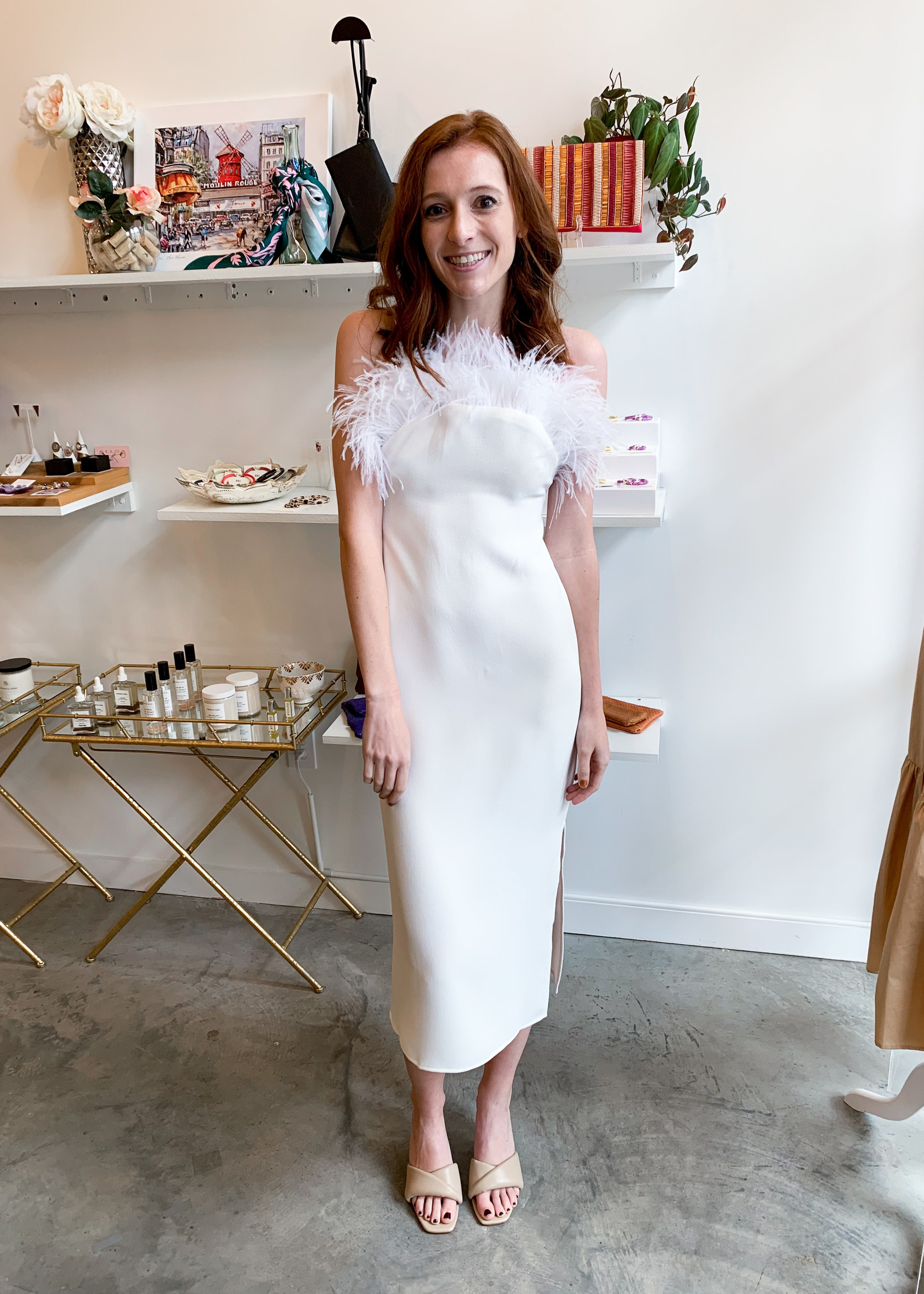 Elitaire Boutique Harley Ivory Dress