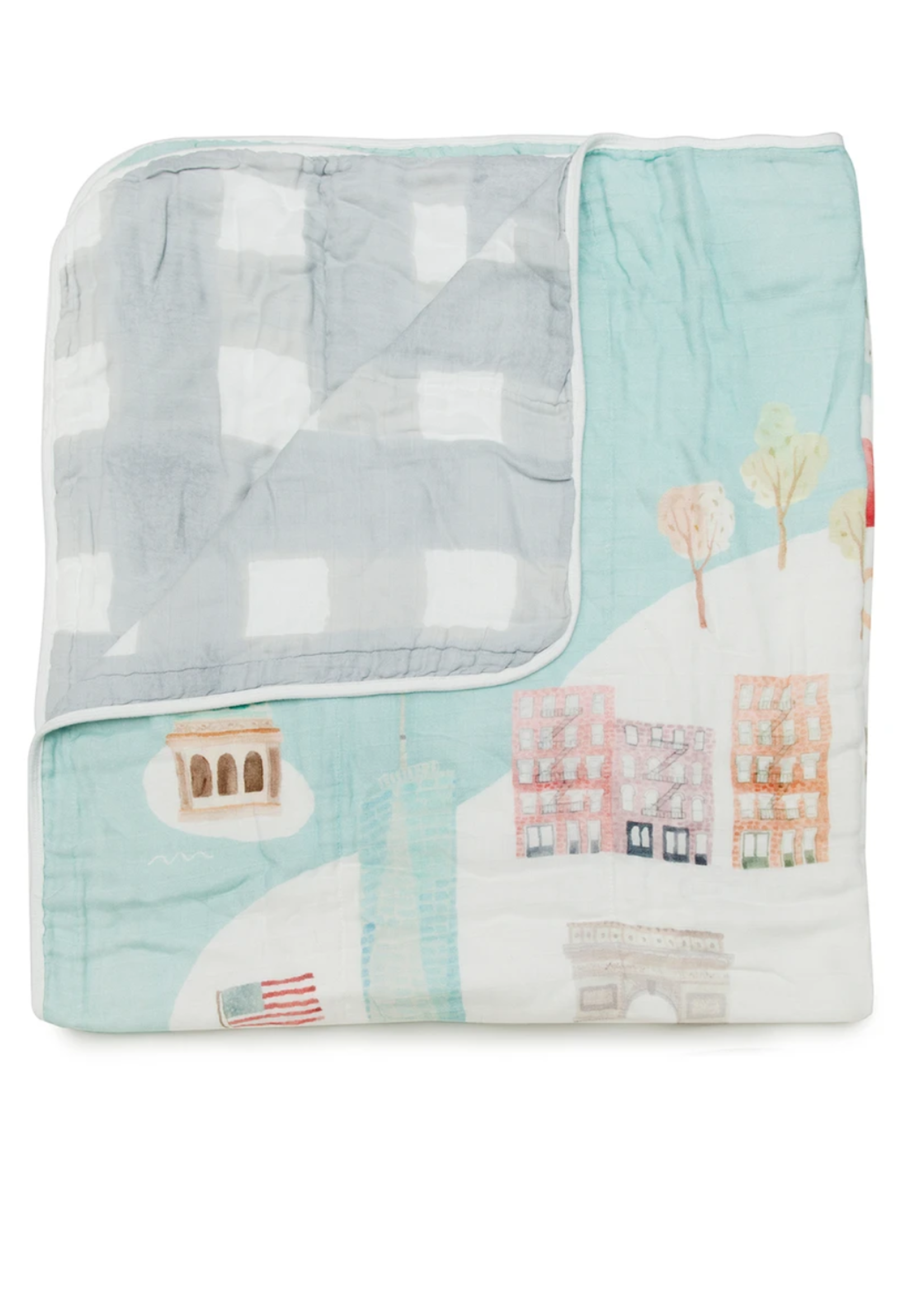 Elitaire Petite Muslin Quilt Blanket - New York City
