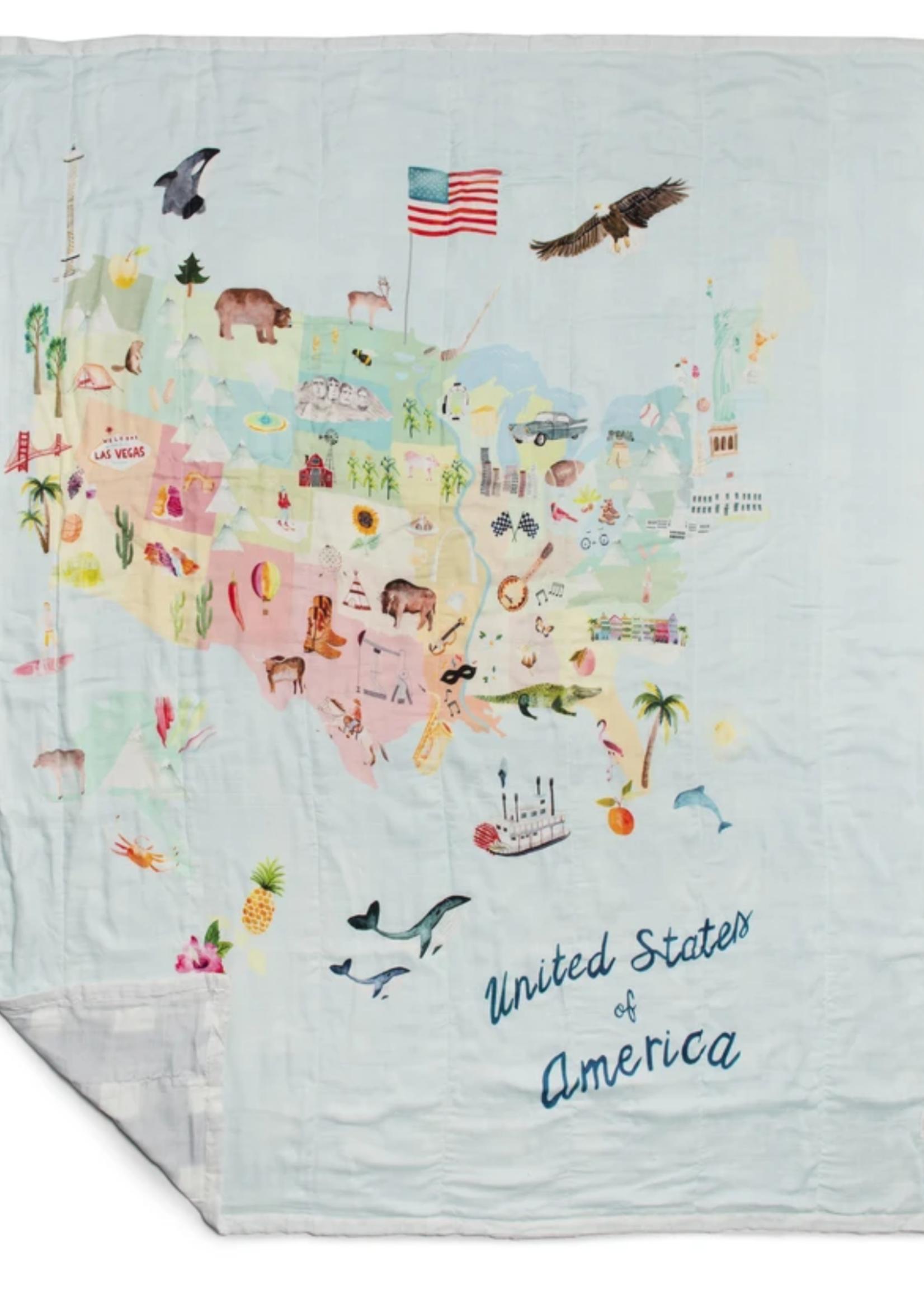 Elitaire Petite Muslin Quilt Blanket - USA