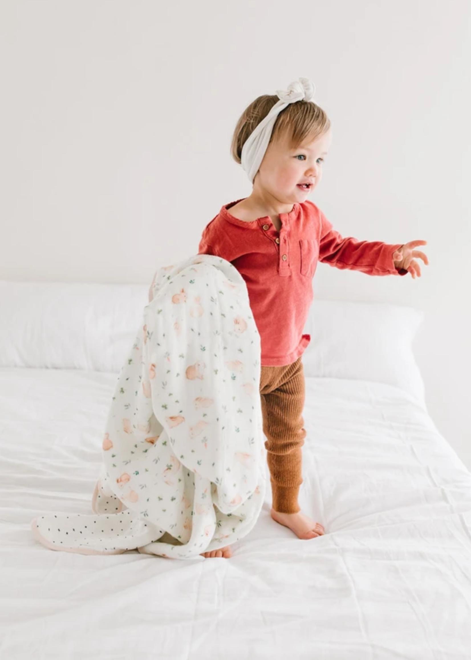 Elitaire Petite Muslin Quilt Blanket - Bunny Meadow