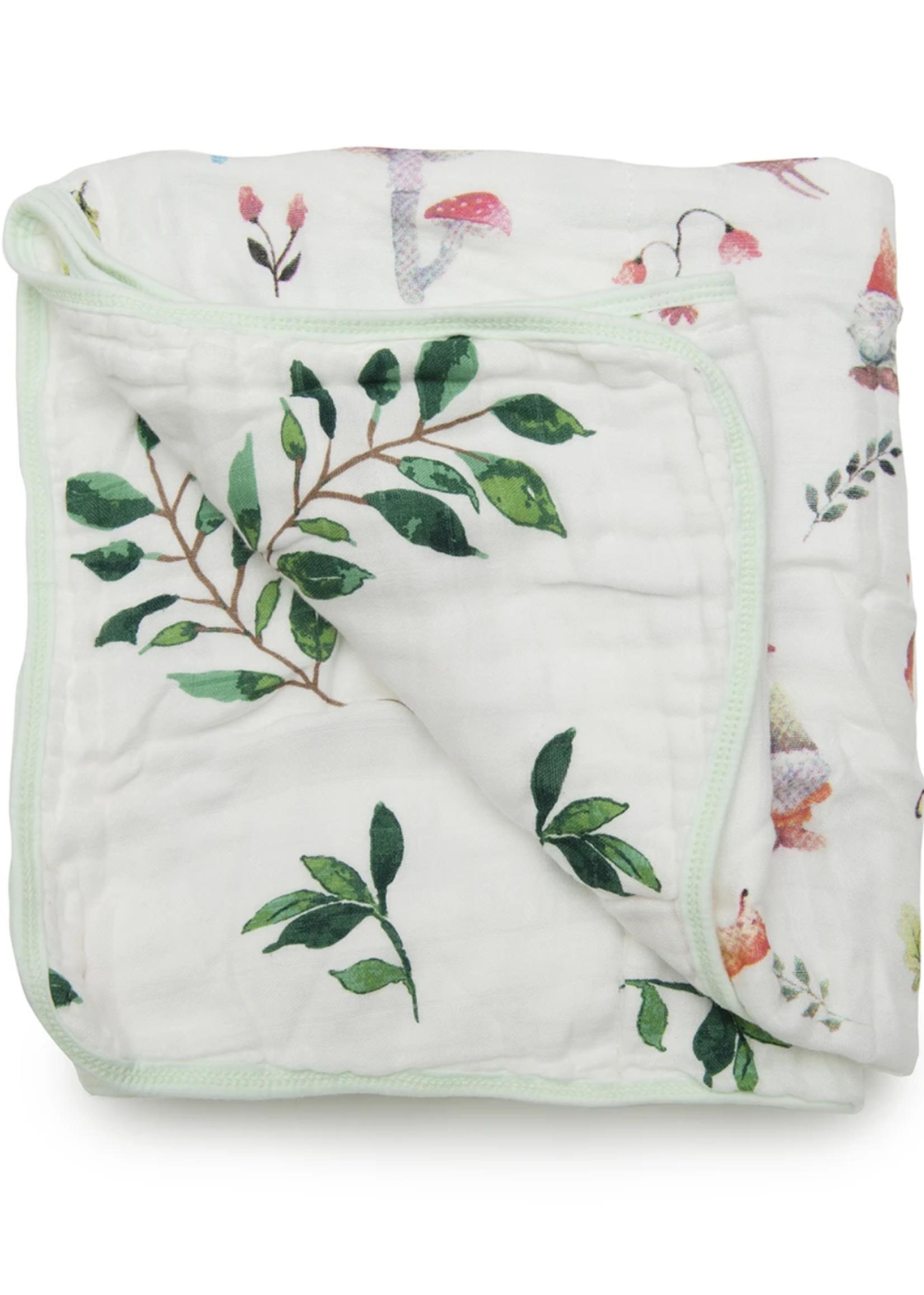 Elitaire Petite Muslin Quilt Blanket - Woodland Gnome