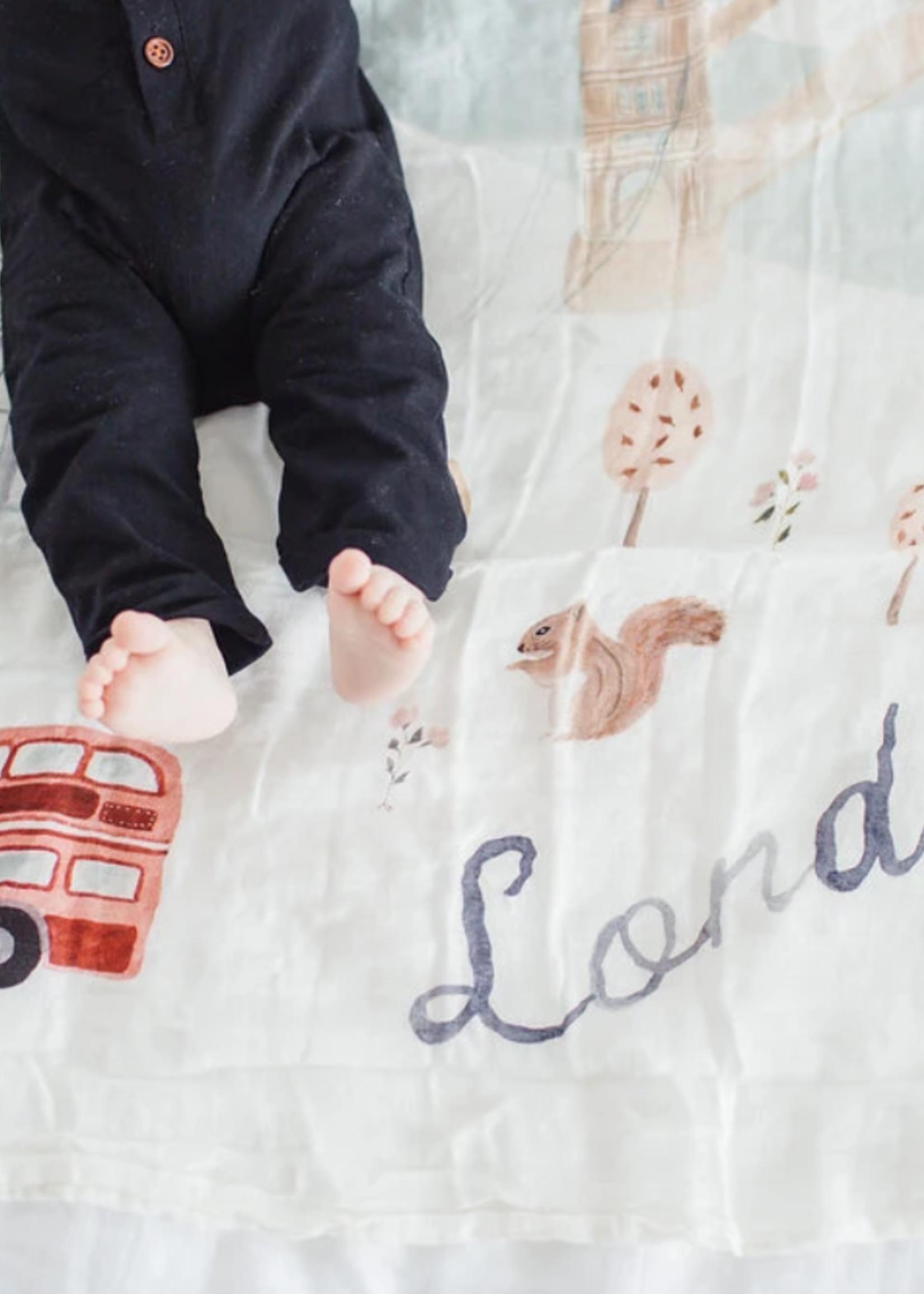 Elitaire Petite Muslin Quilt Blanket - London