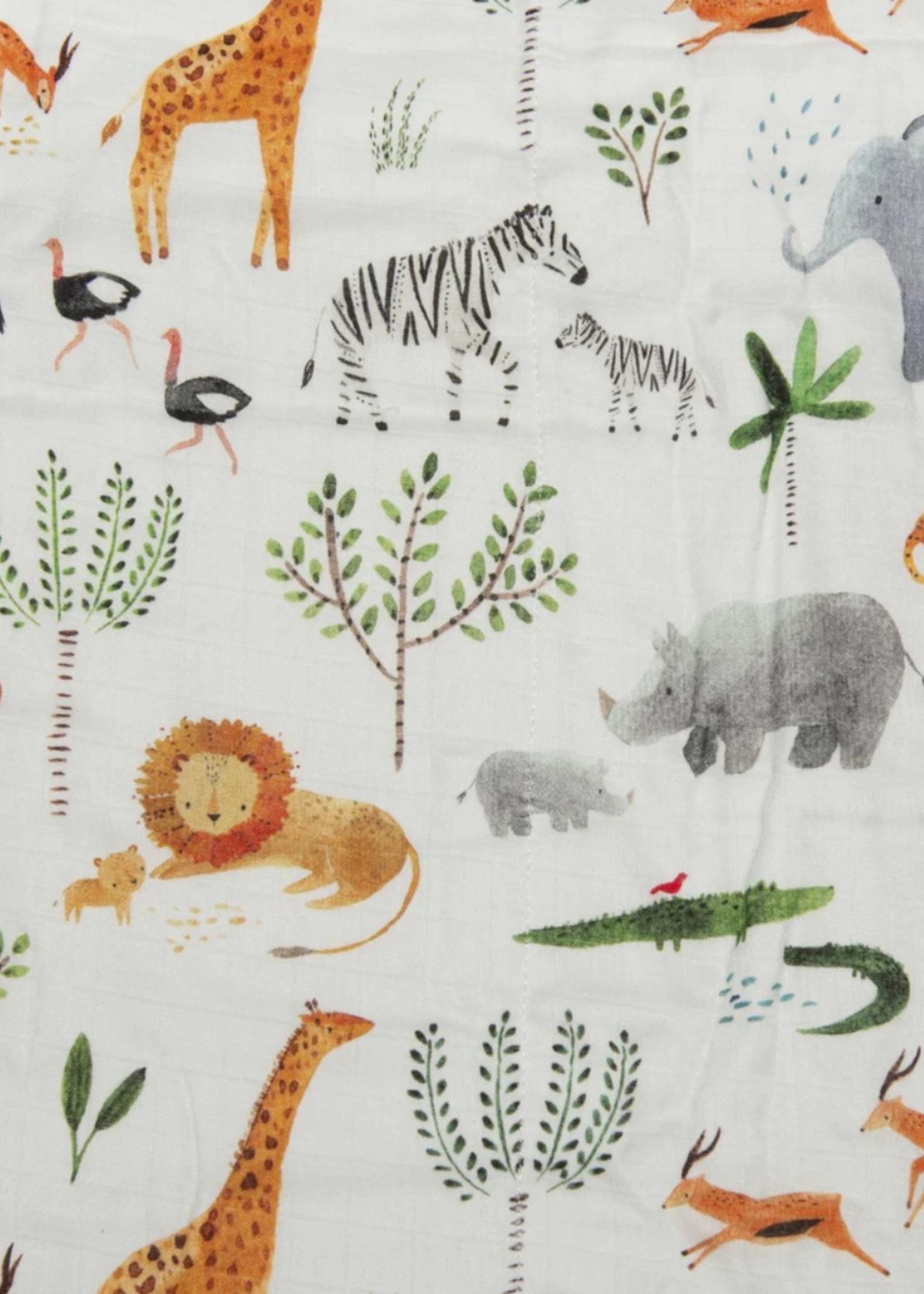 Elitaire Petite Muslin Quilt Blanket - Safari Jungle