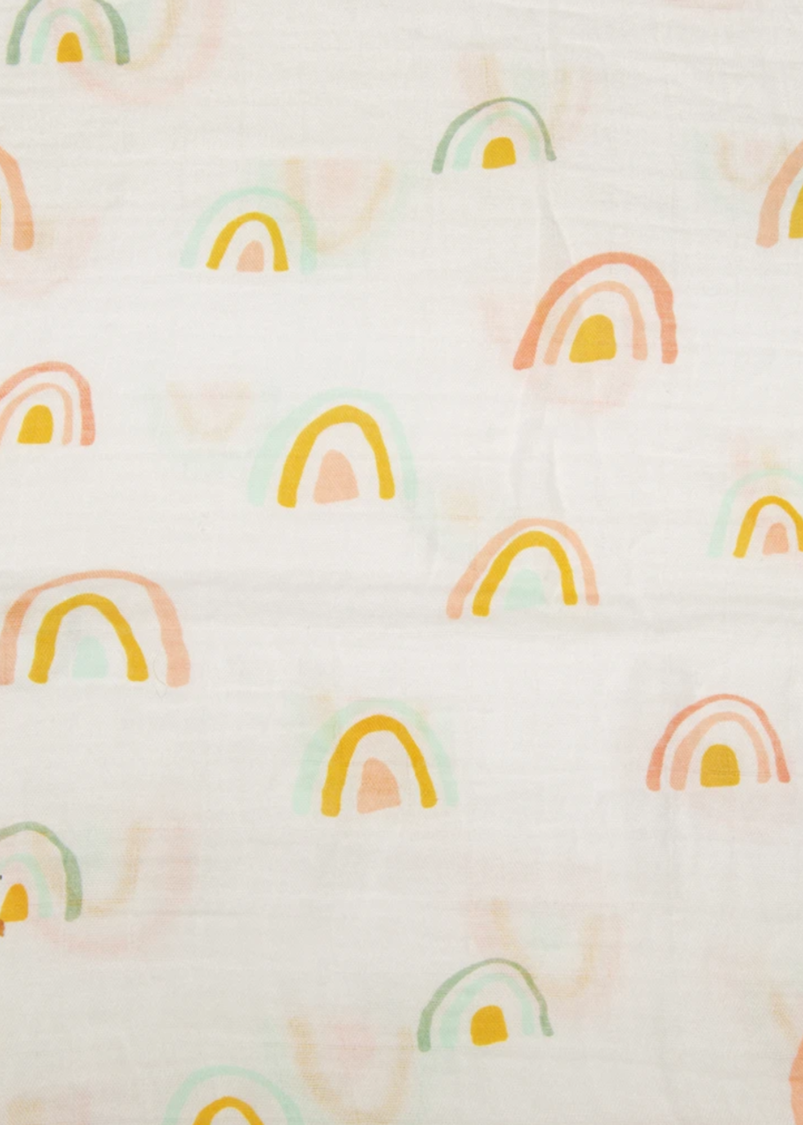 Elitaire Petite Muslin Swaddle - Pastel Rainbow