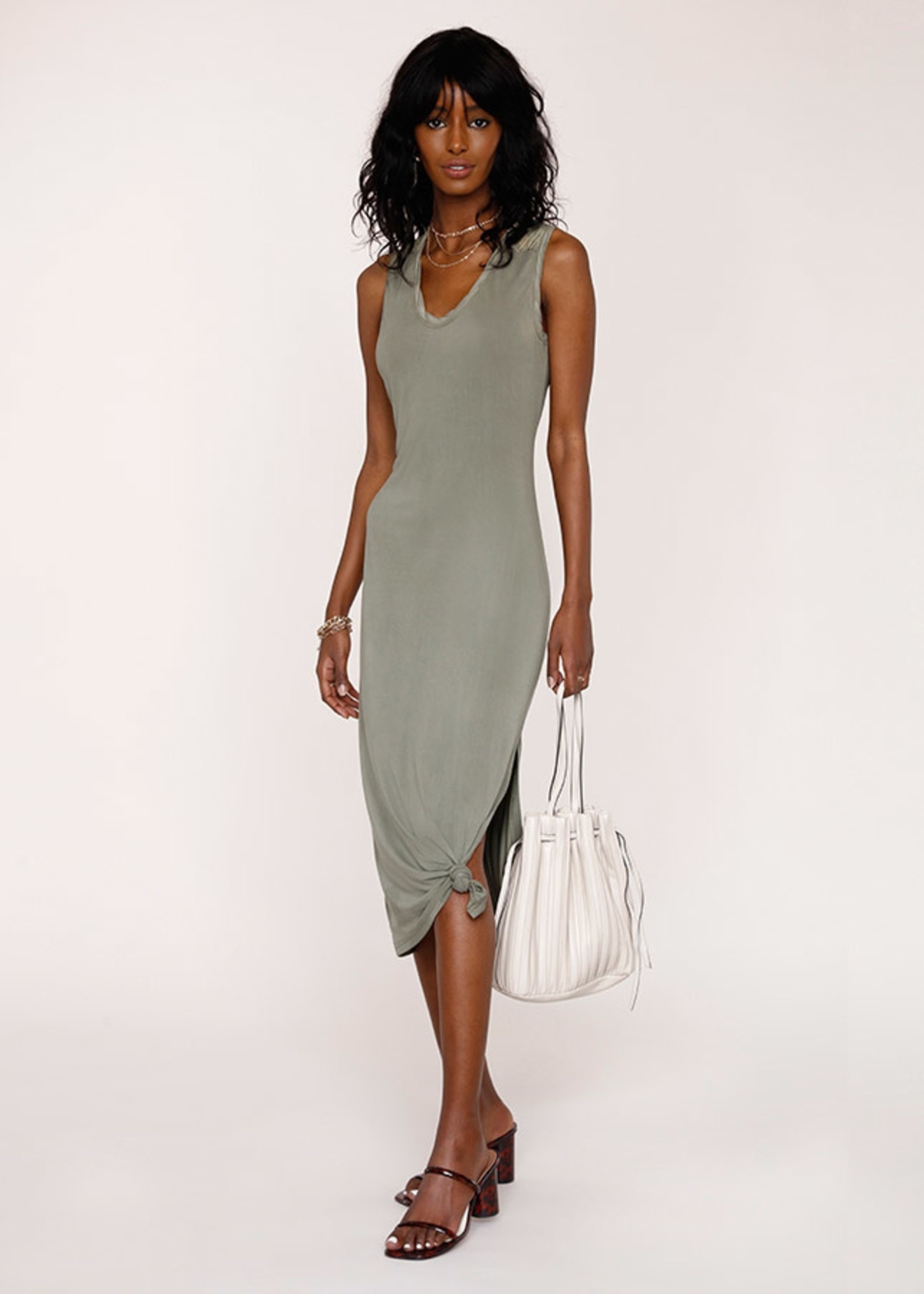 Elitaire Boutique Lucky Dress in Army
