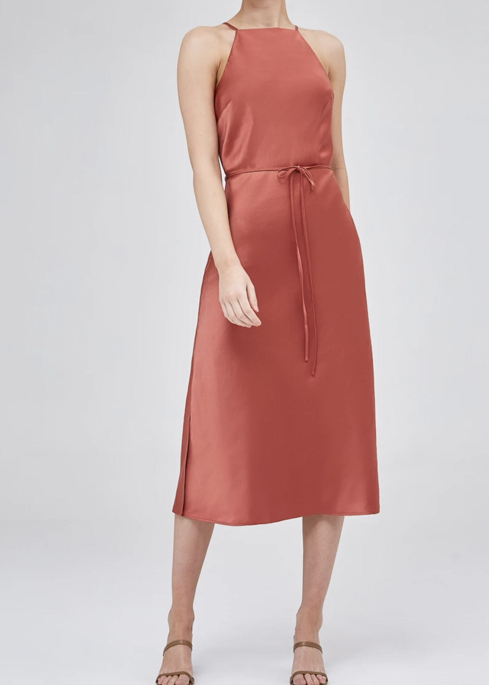 Elitaire Boutique Bisque Midi Dress