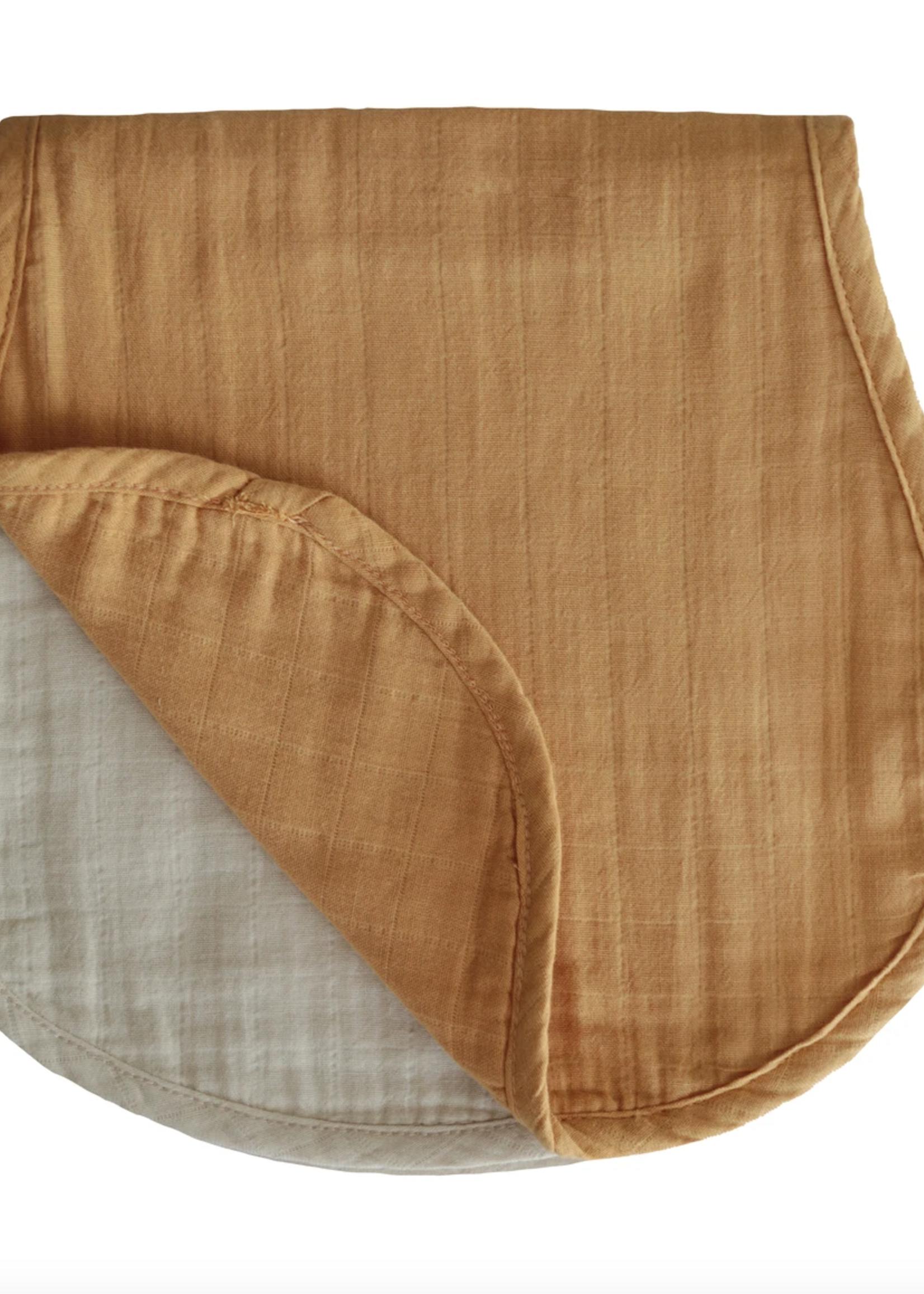 Elitaire Petite Muslin 2-Pack Burp Cloth in Yellow/Fog