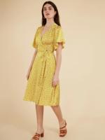 Elitaire Boutique Alna Yellow Wrap Dress