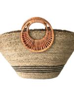 Elitaire Boutique Seaside Market Tote w/ Wood Handle