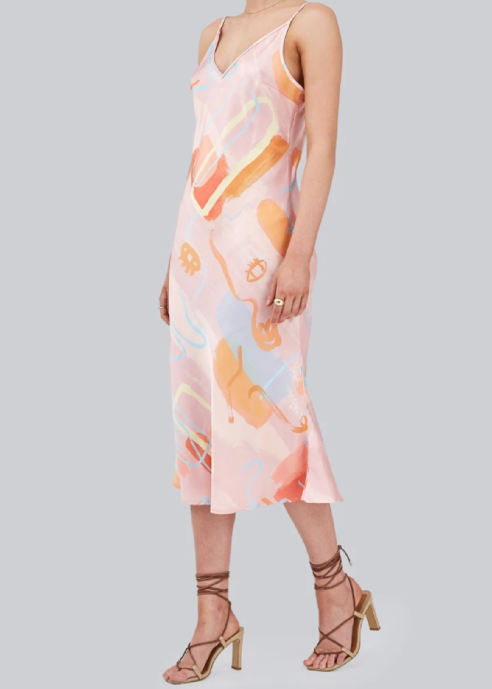Elitaire Boutique The Collage Dress in Brushstrokes
