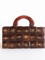 Elitaire Boutique Small Brown Coconut Shell Handbag