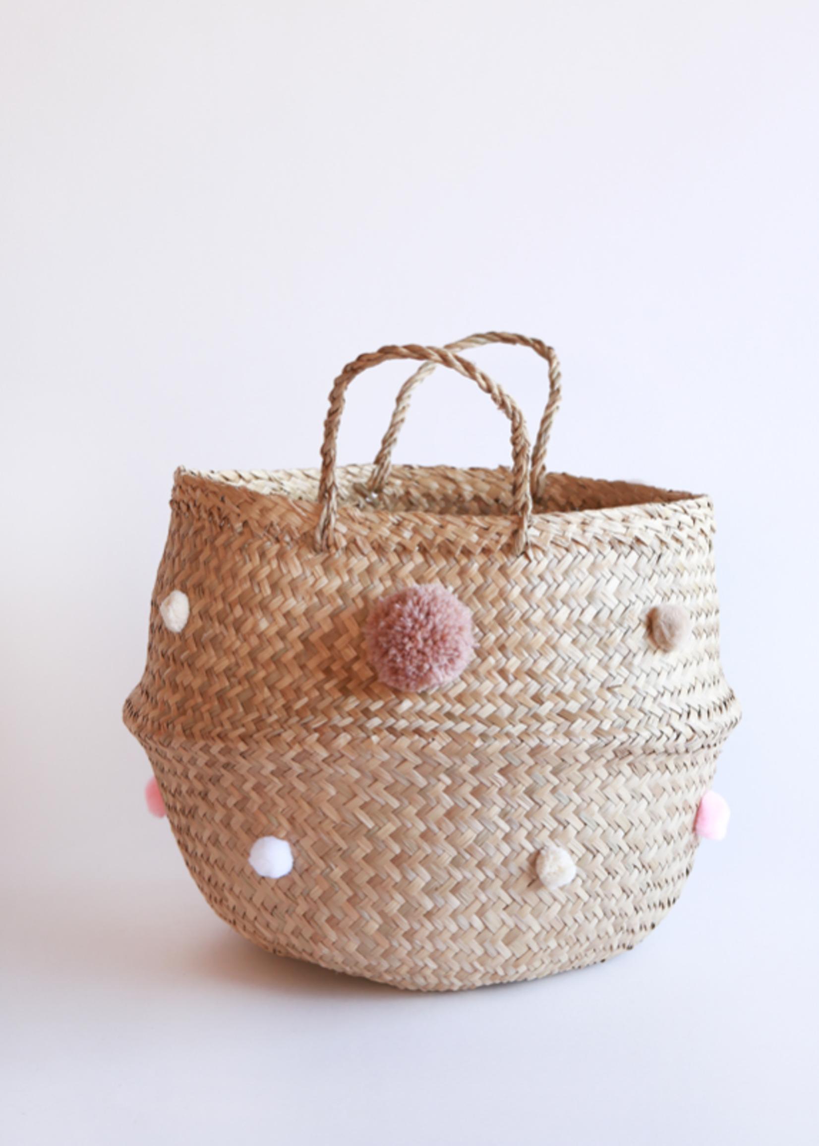 Elitaire Petite Blush Pom Pom Basket