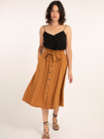Elitaire Boutique Eliza Woven Skirt in Ocre
