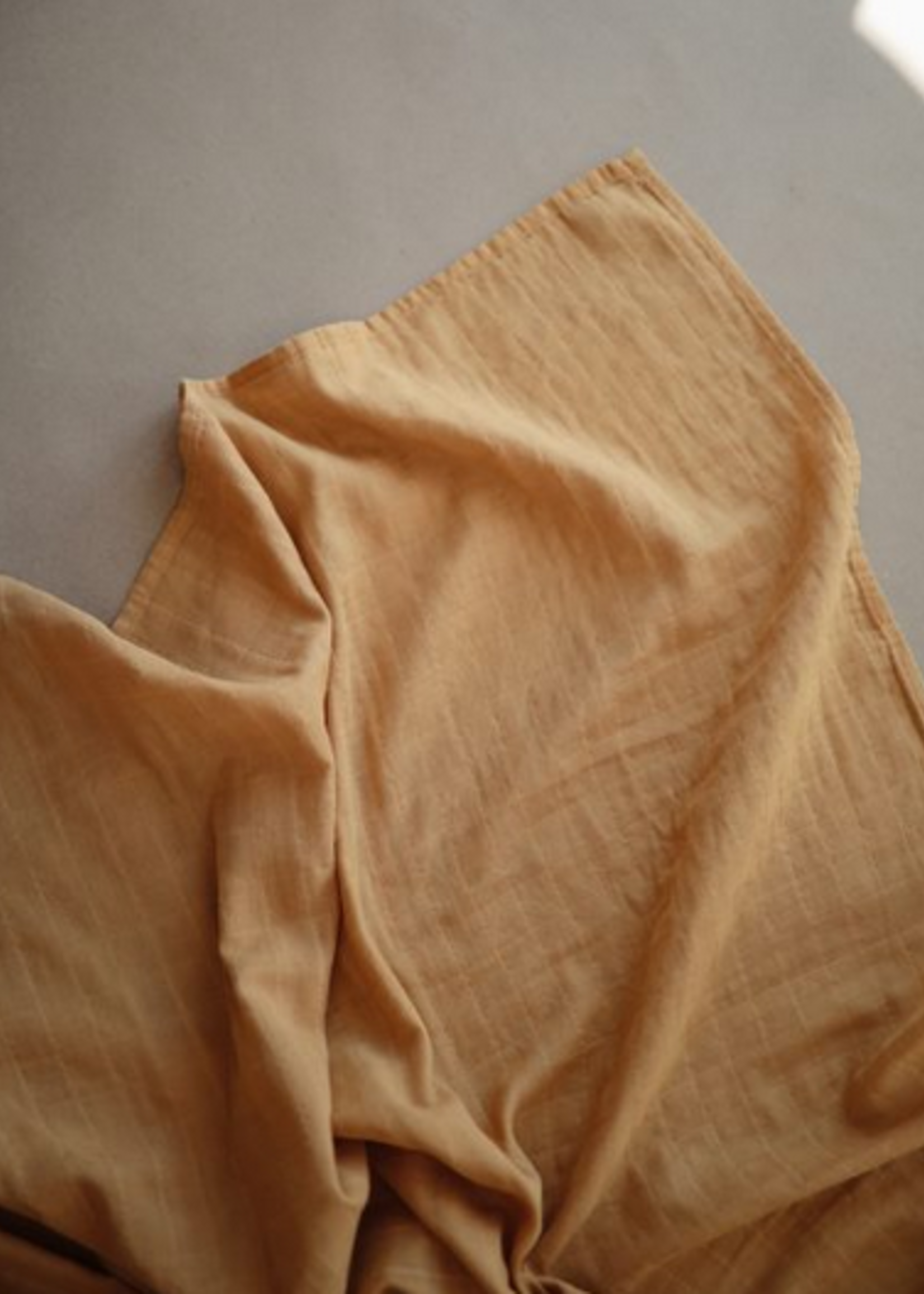 Elitaire Petite Muslin Organic Cotton Swaddle Blanket in Golden Yellow