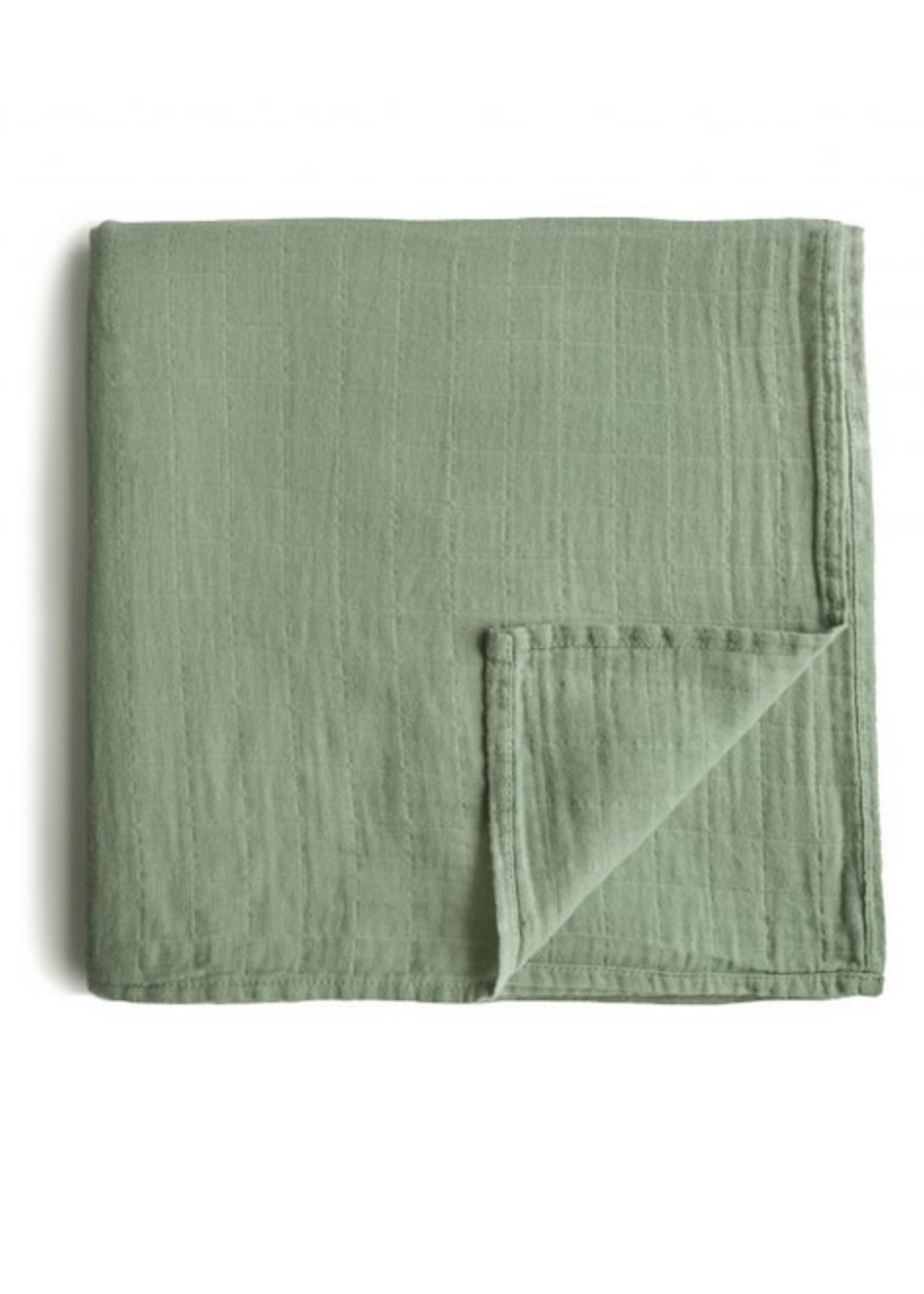 Elitaire Petite Muslin Organic Cotton Swaddle Blanket in Sage
