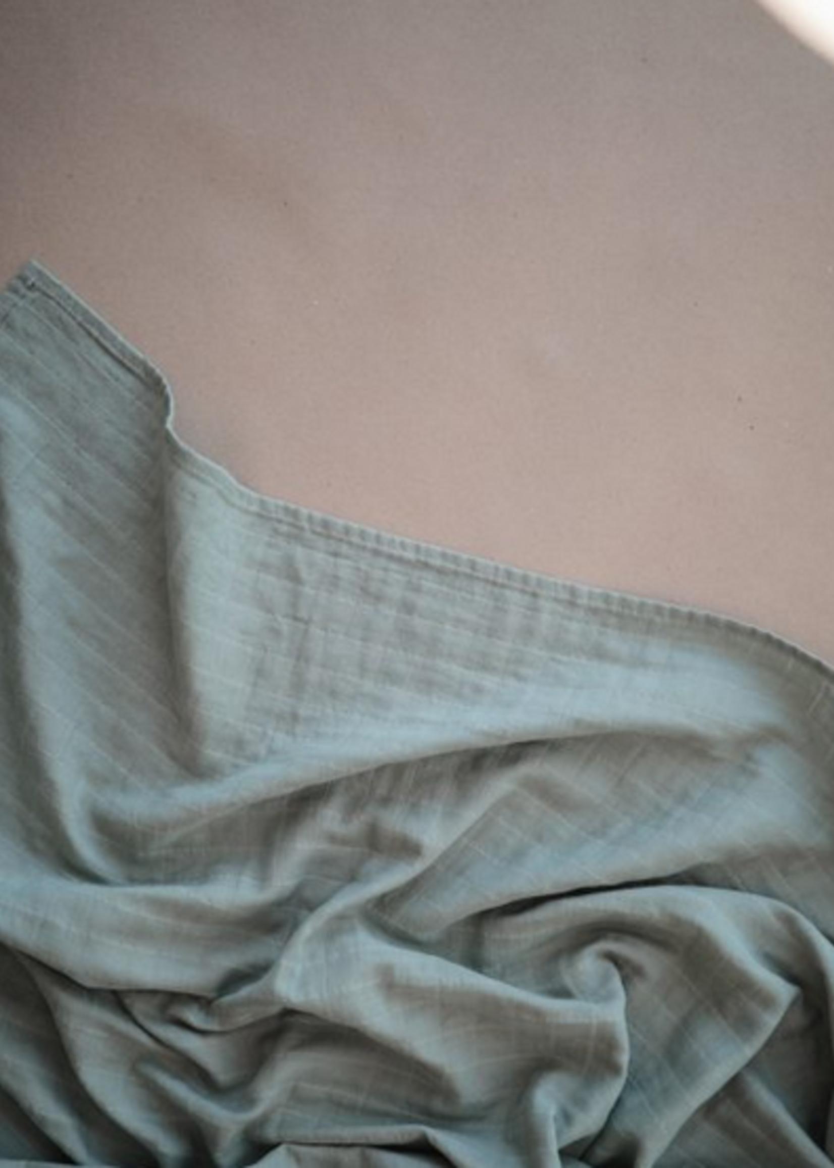 Elitaire Petite Muslin Organic Cotton Swaddle Blanket in Roman Green