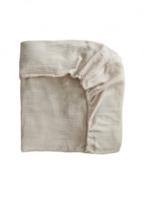 Elitaire Petite Extra Soft Muslin Crib Sheet in Fog