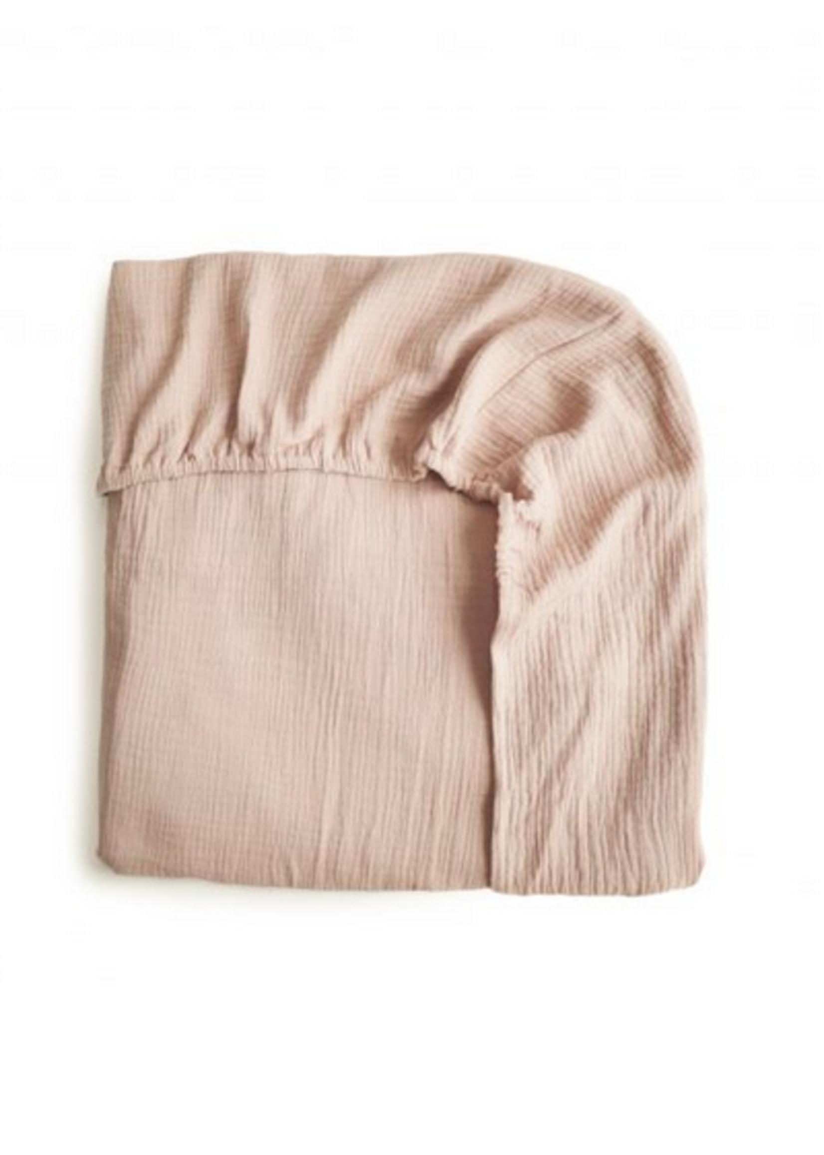 Elitaire Petite Extra Soft Muslin Crib Sheet in Blush