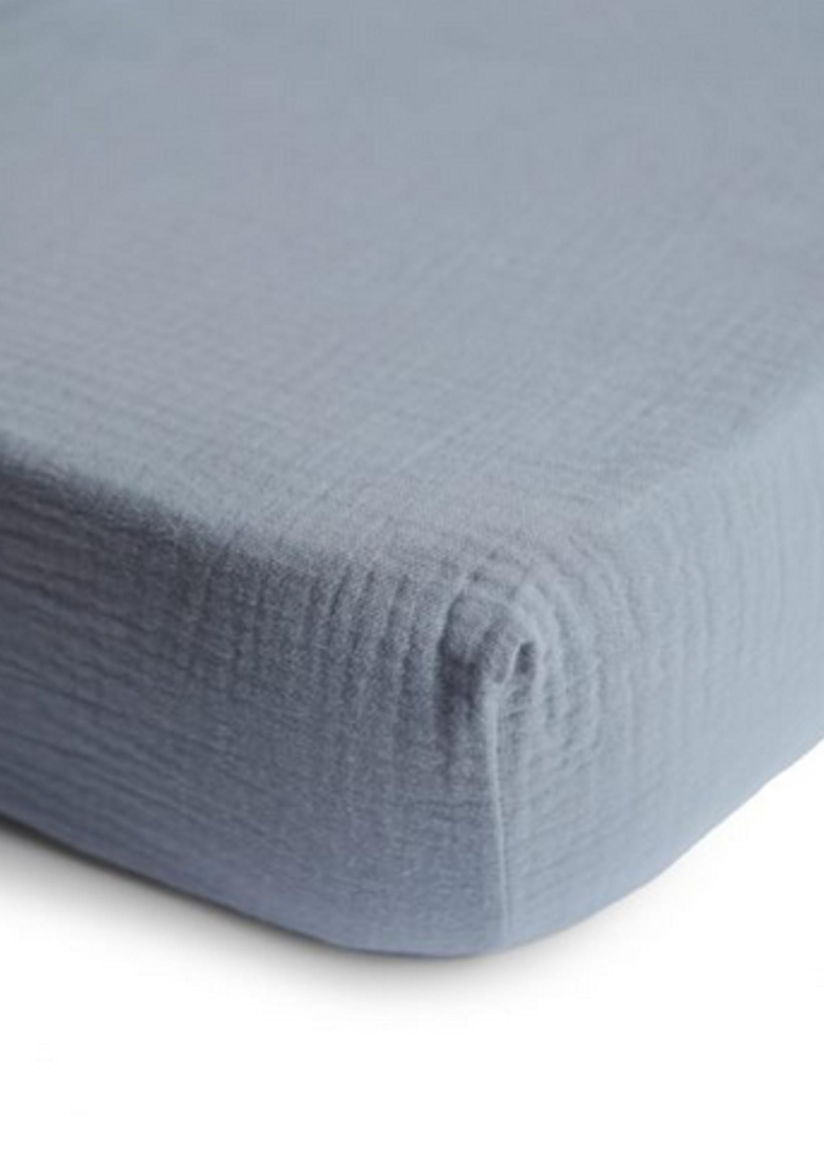 Elitaire Petite Extra Soft Muslin Crib Sheet in Tradewinds
