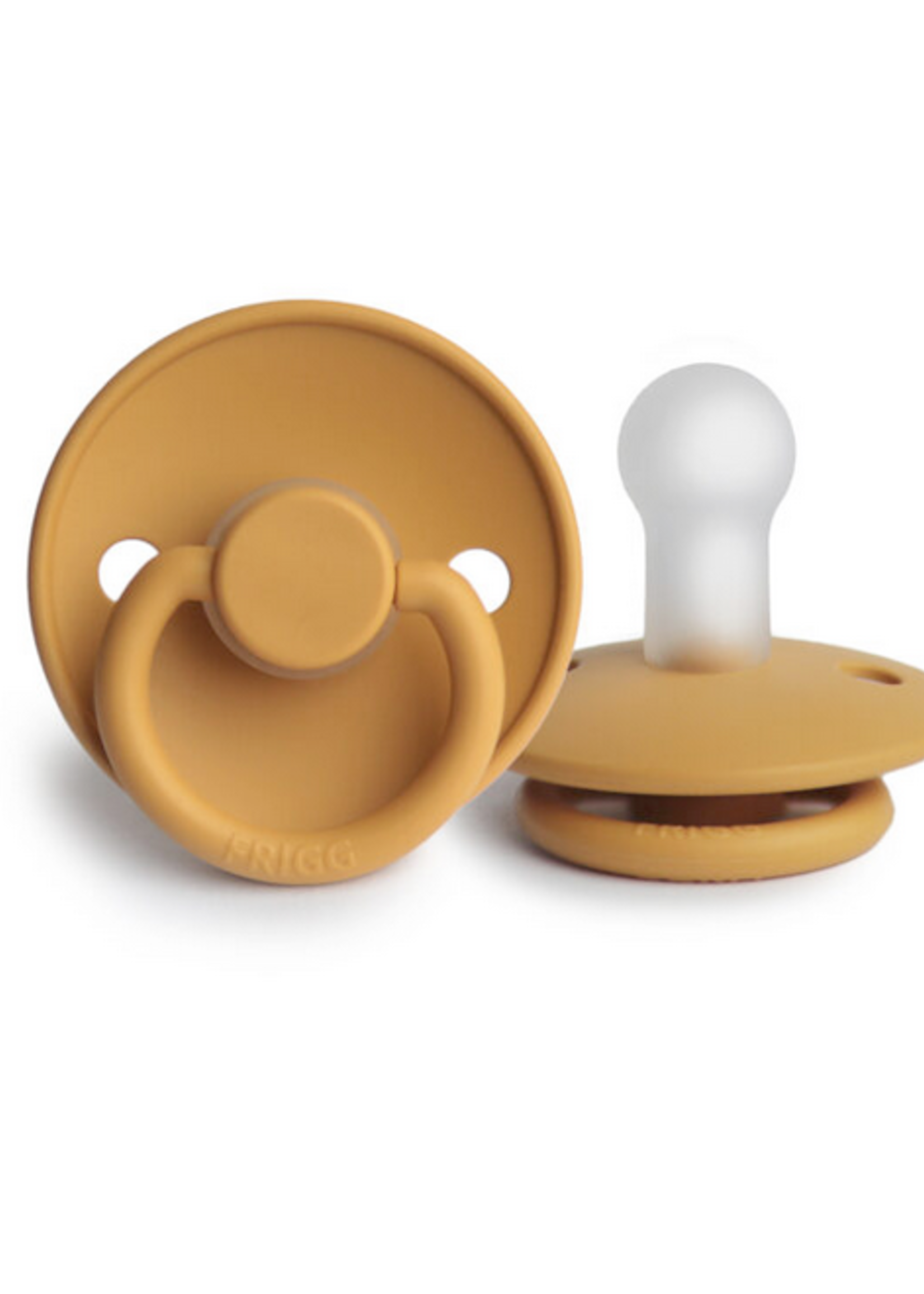 Elitaire Petite FRIGG Silicone Pacifier in Honey Gold (0-6 Months)
