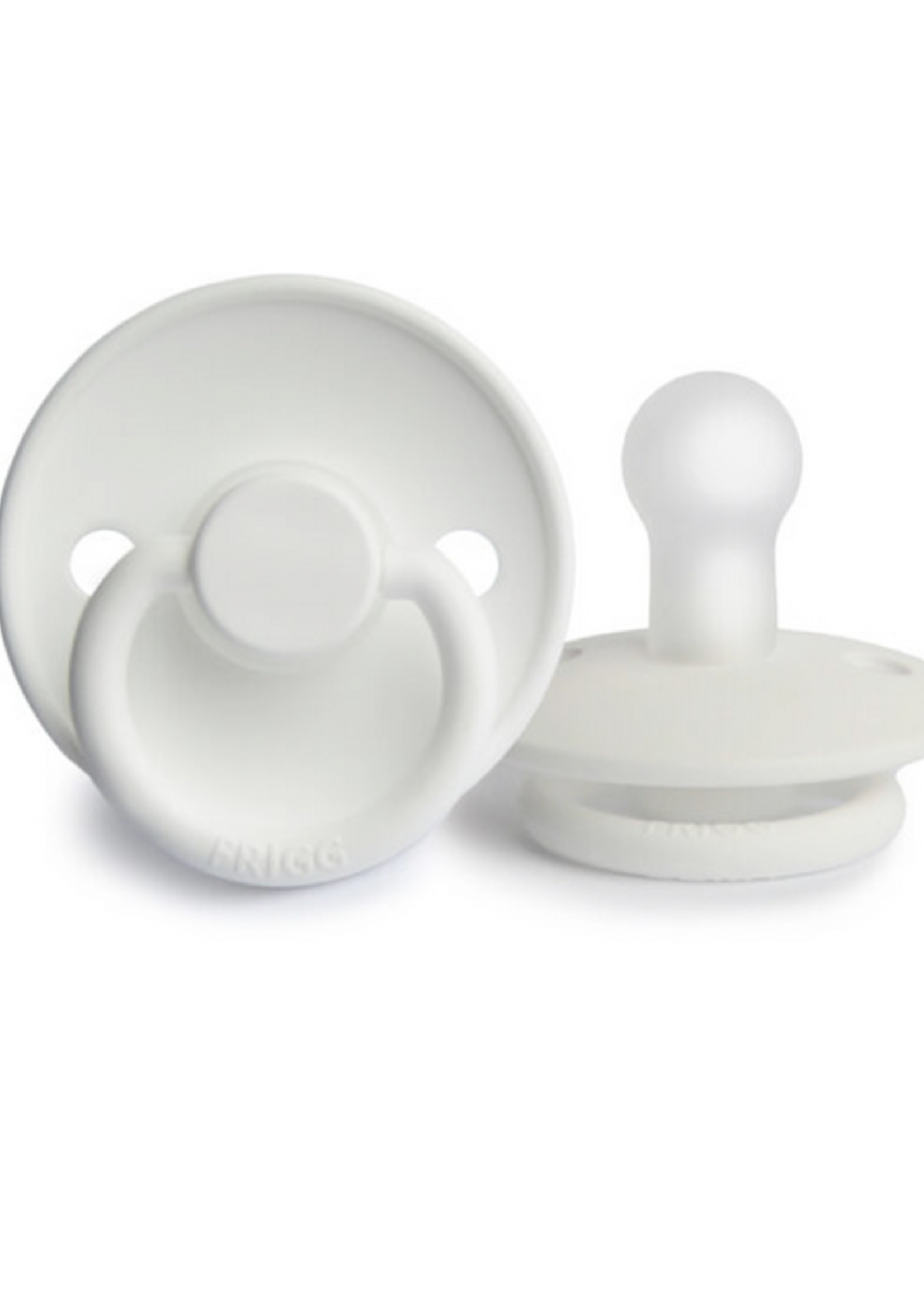Elitaire Petite FRIGG Silicone Pacifier in Bright White (6-18 Months)