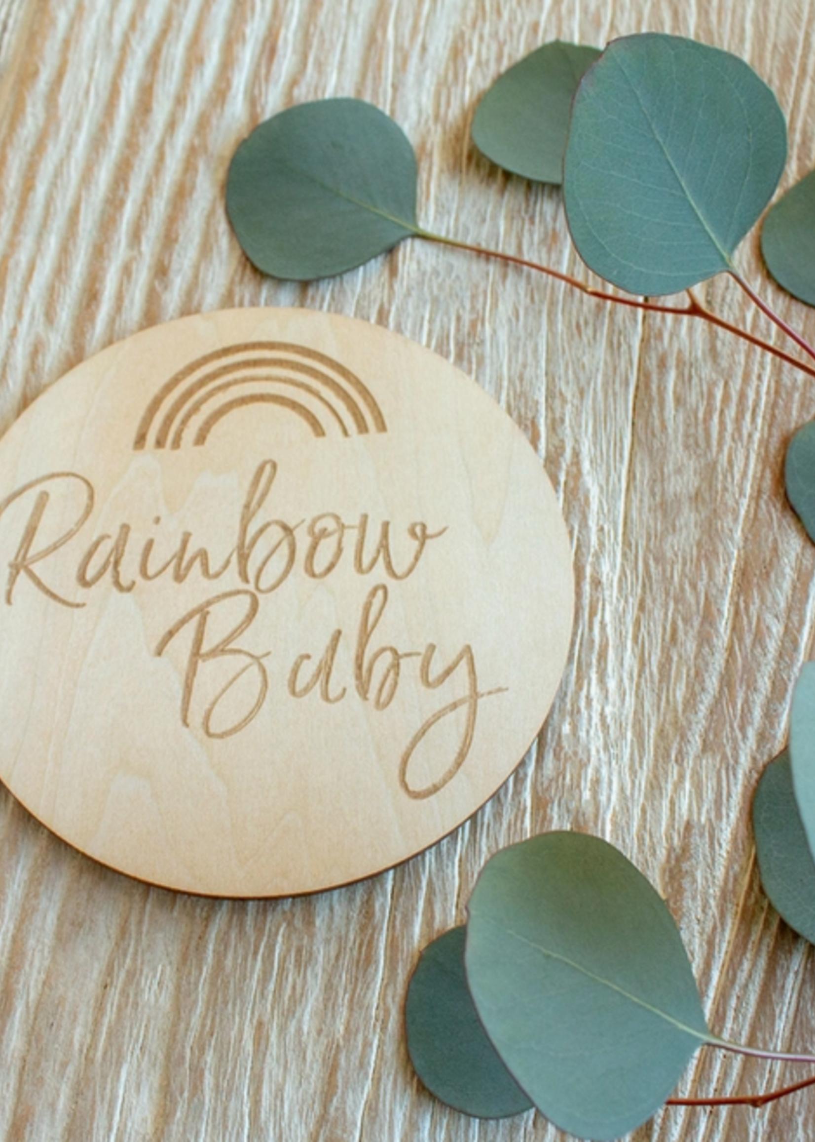 Elitaire Petite Rainbow Baby Milestone Disc