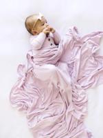Elitaire Petite Quincy Lilac Knit Swaddle Blanket
