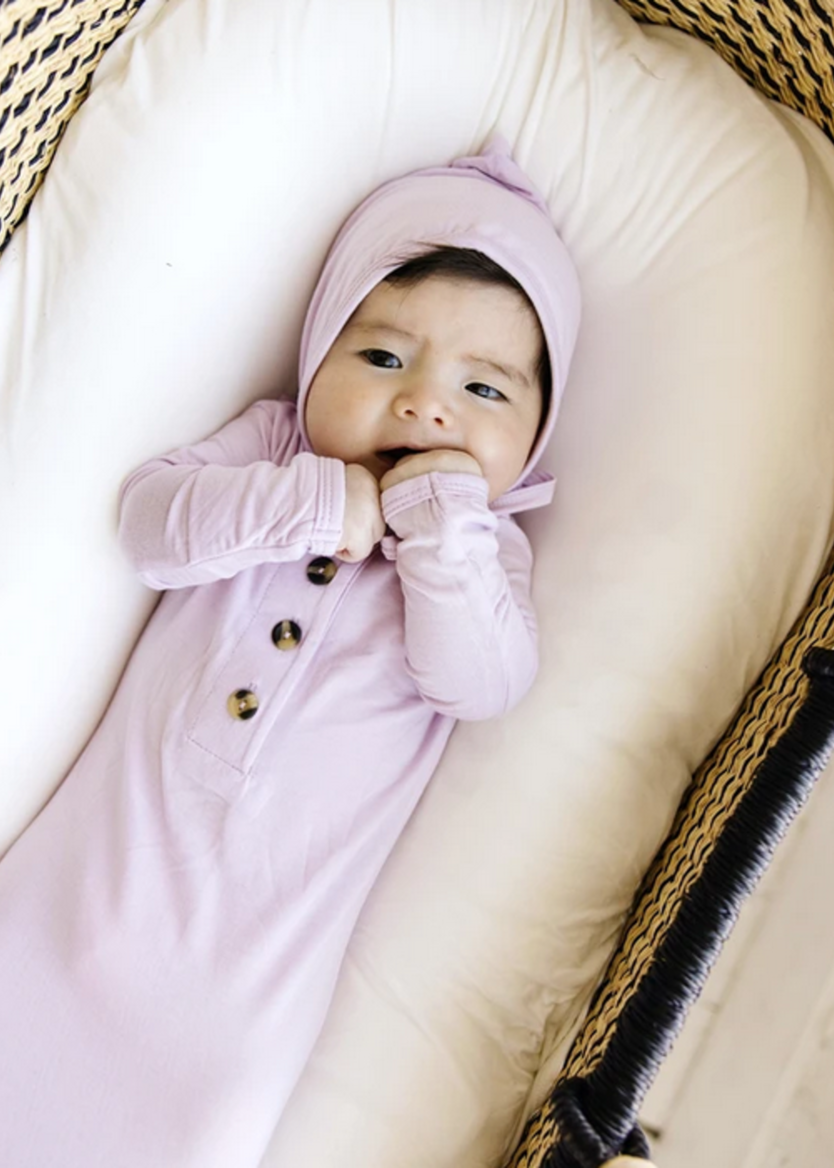Elitaire Petite Quincy Lilac Knotted Gown 3-6 Months