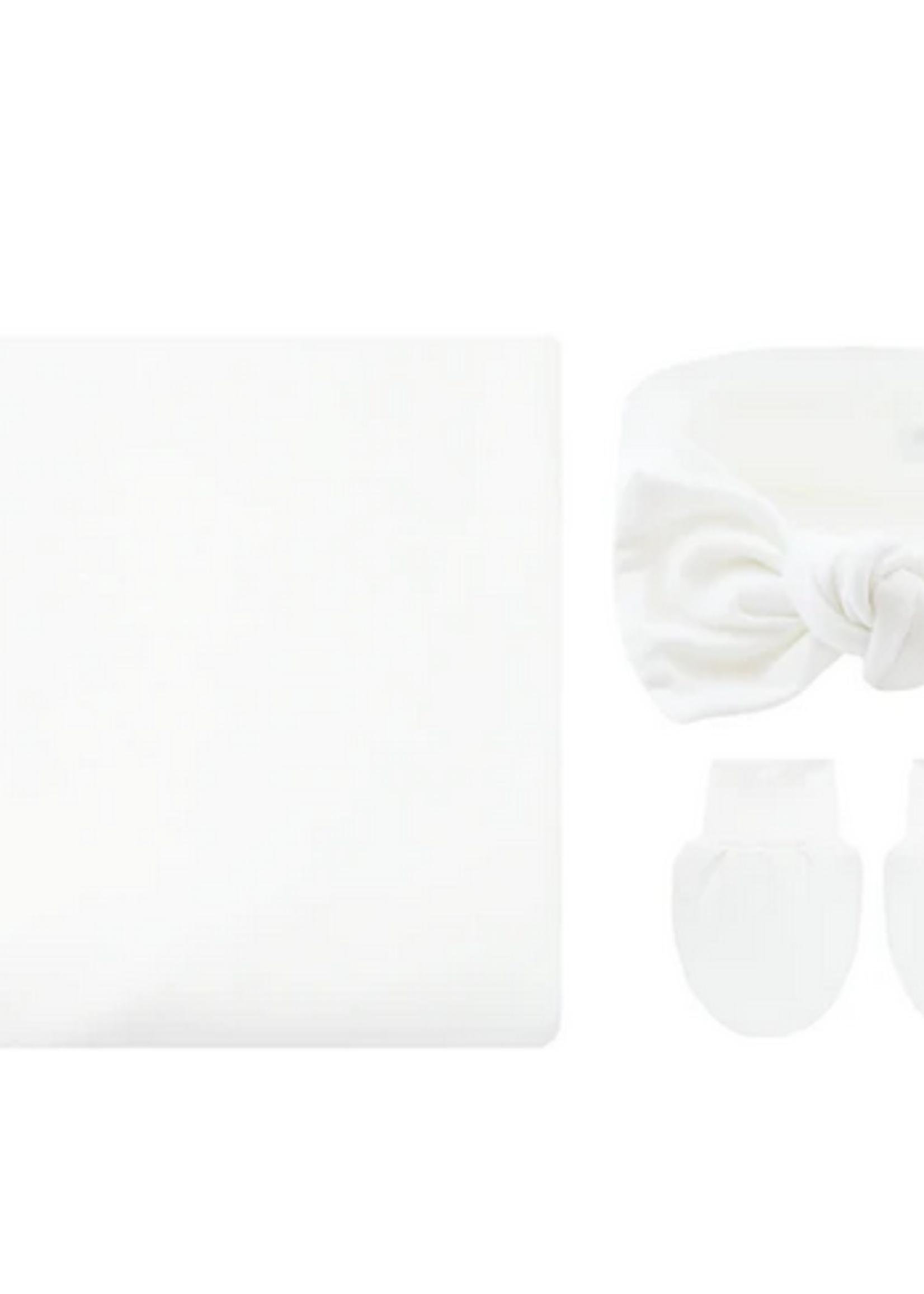 Elitaire Petite Finley White Newborn Bundle (Headband)